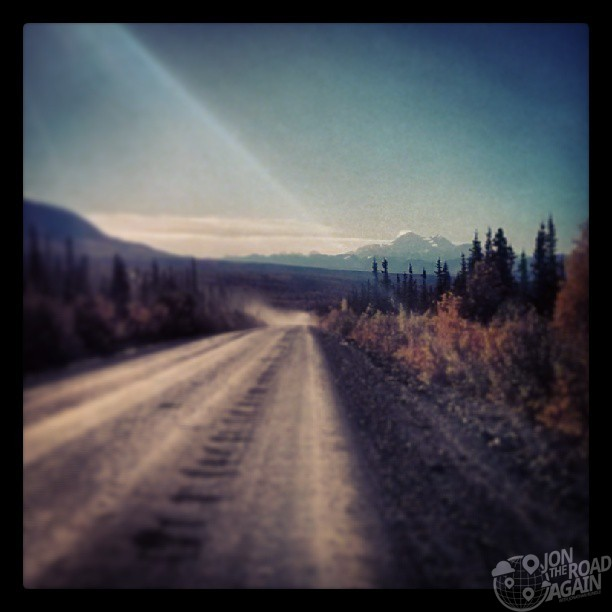 Denali highway by motorcycle