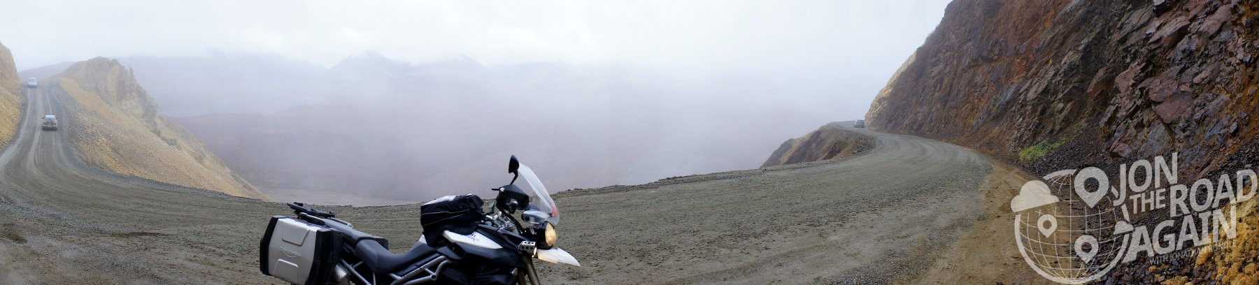 Polychrome pass on a motorcycle