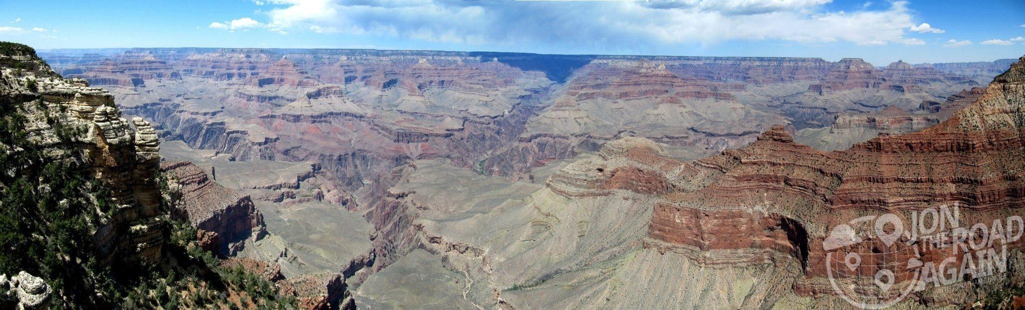South rim at the Grand Canyon