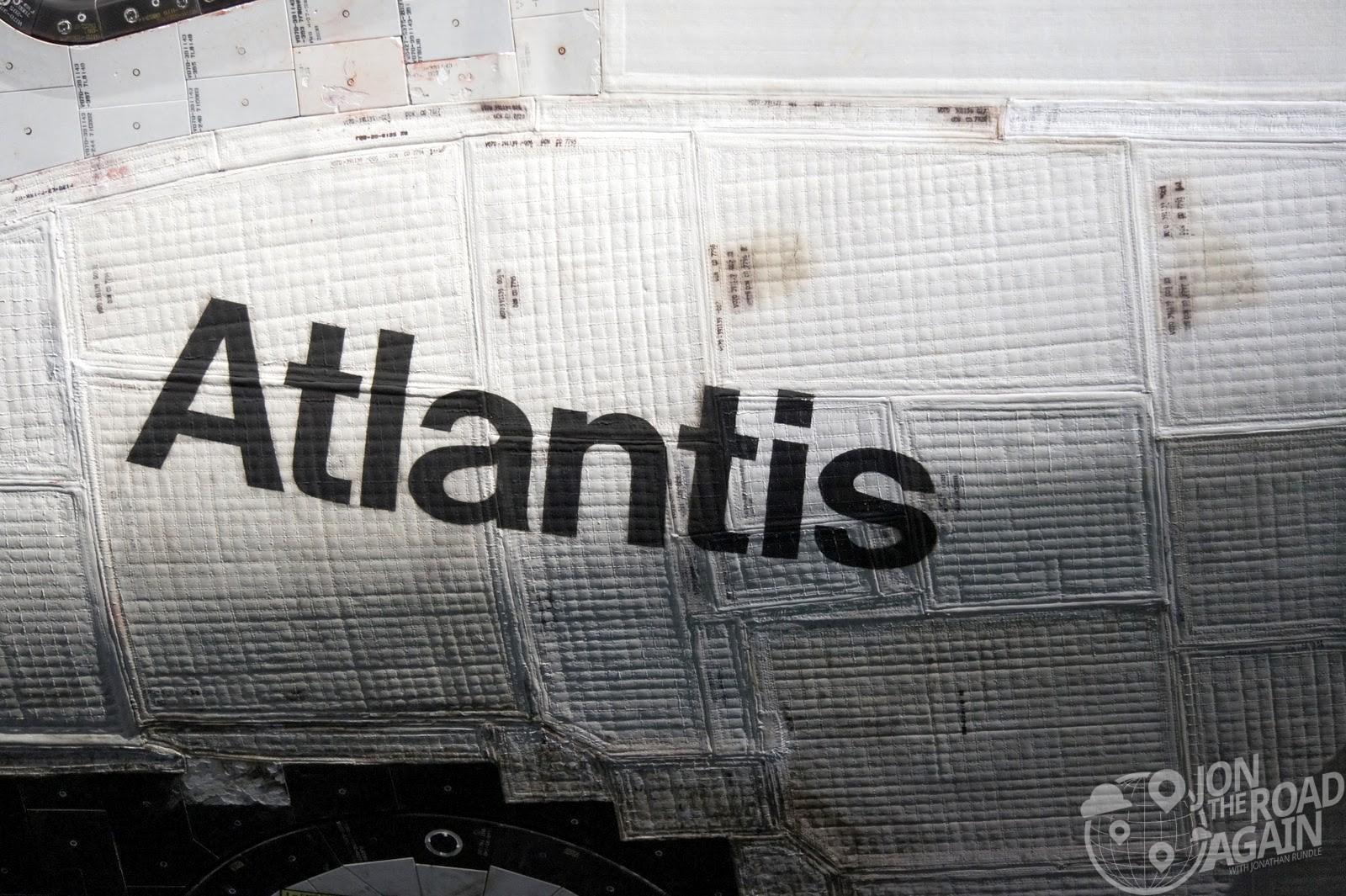 Atlantis Space shuttle display