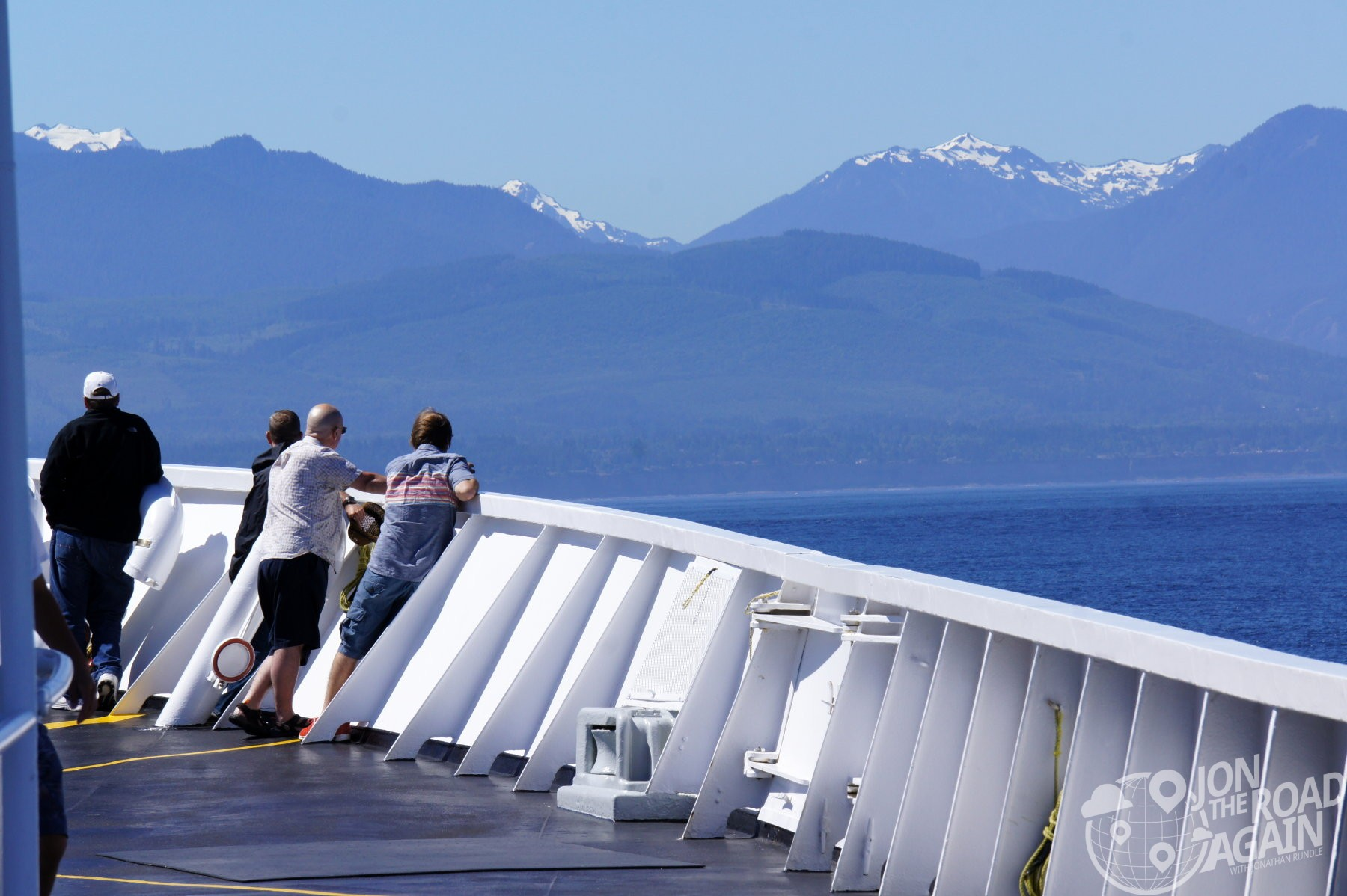 Olympic Mountain Range from the Coho Ferry