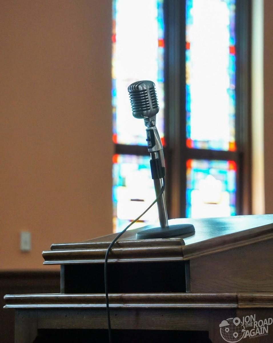 Martin Luther King Microphone Ebenezer Baptist Church