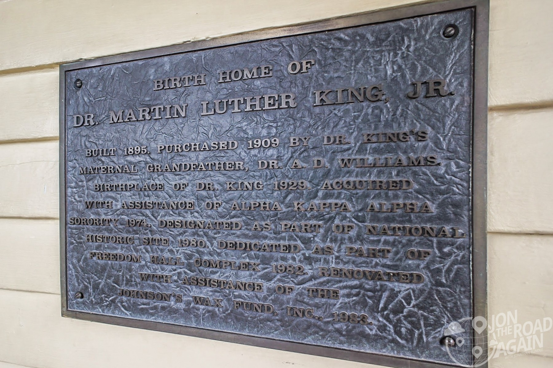 Martin Luther King home plaque