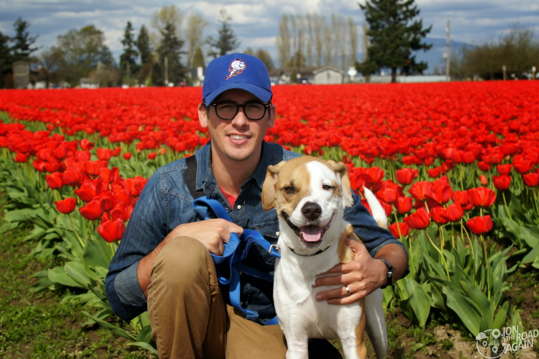 Graham and Jonathan at Skagit Vallet Tulip Festival