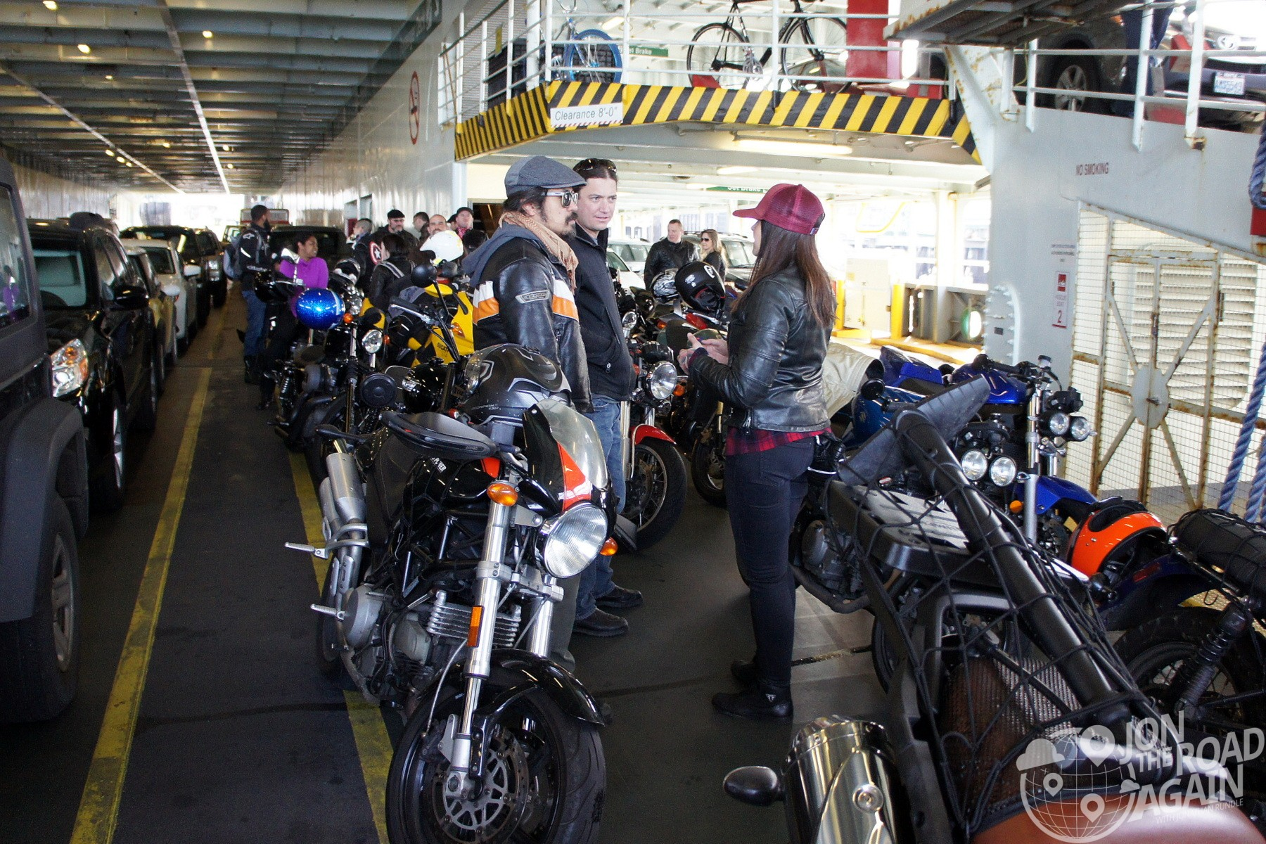 Motorcycles on the Ferry