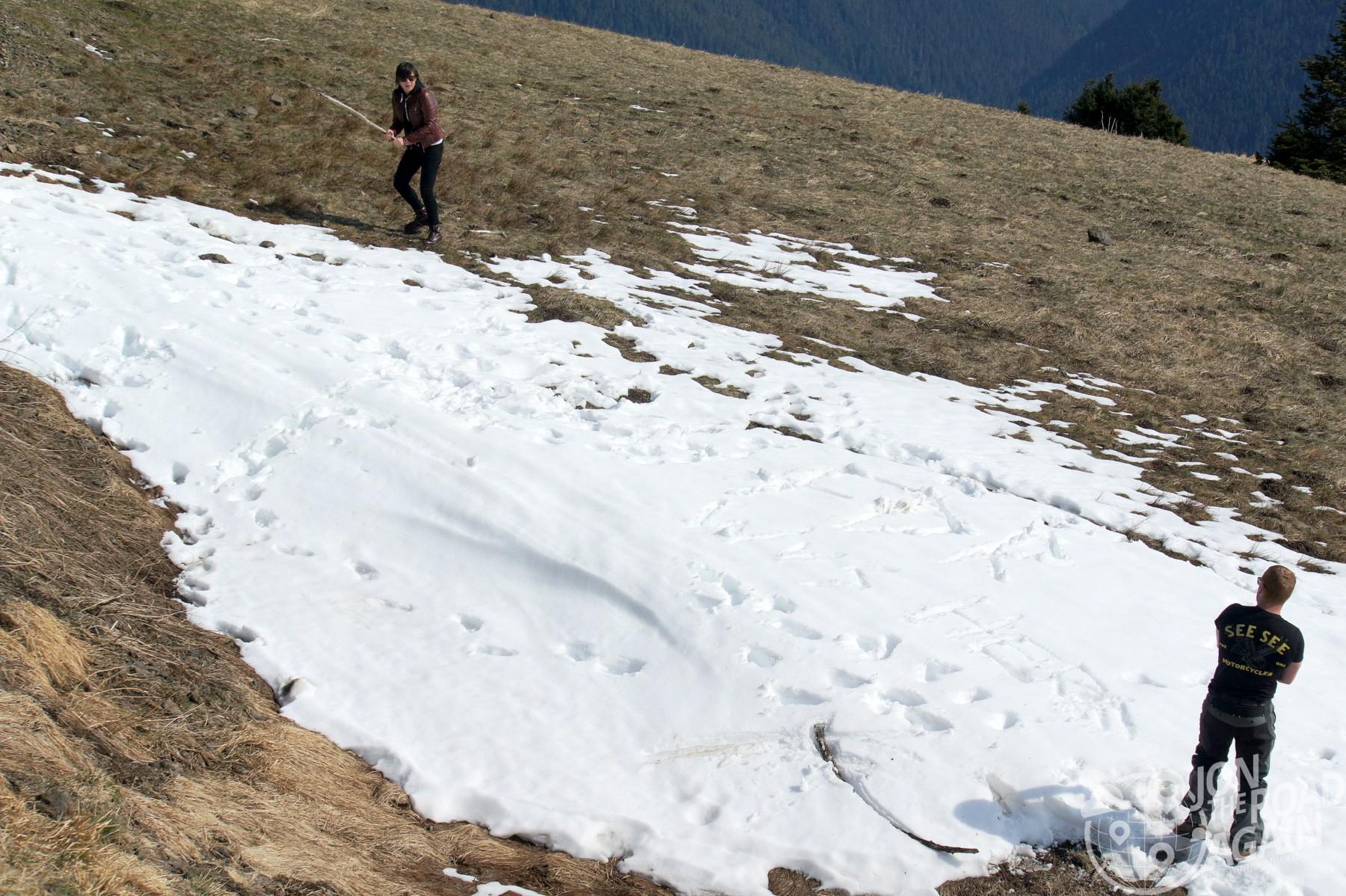 Hurricane Ridge snowball fight