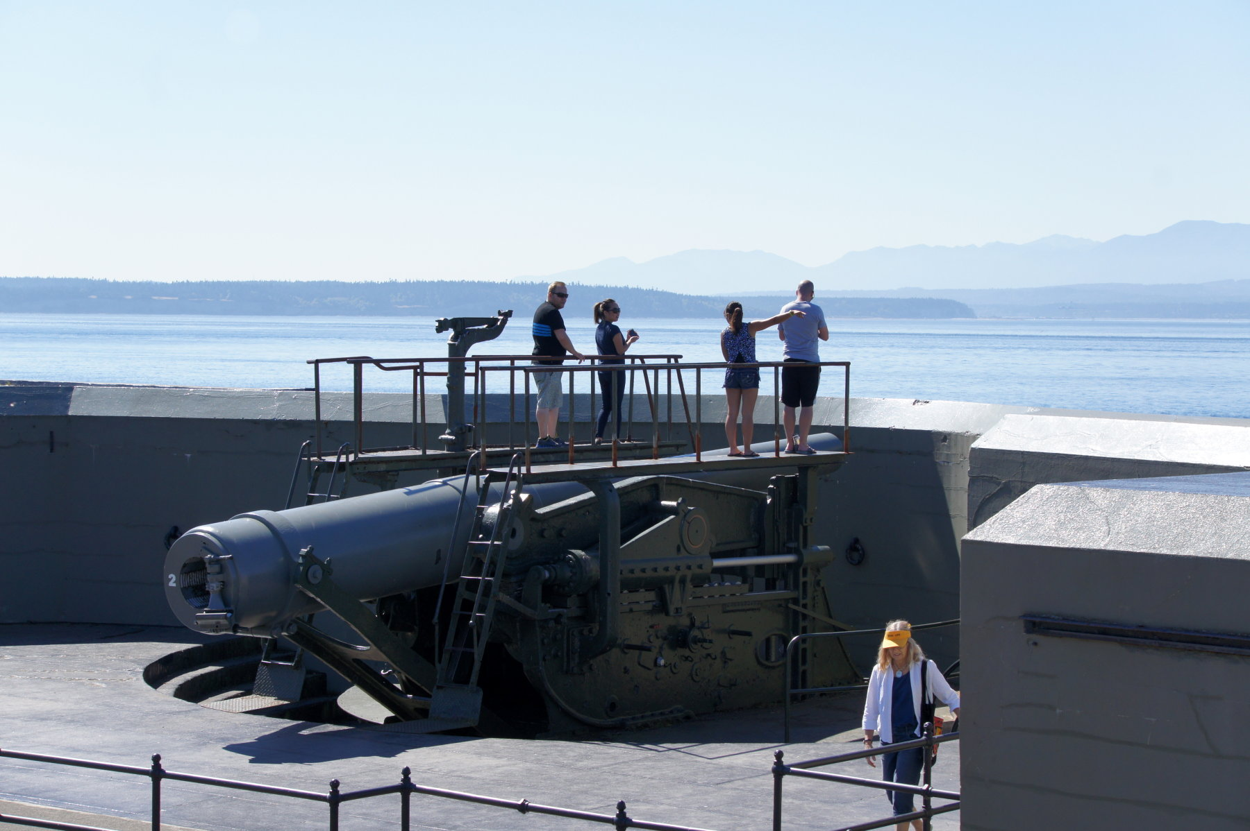 fort casey gun down