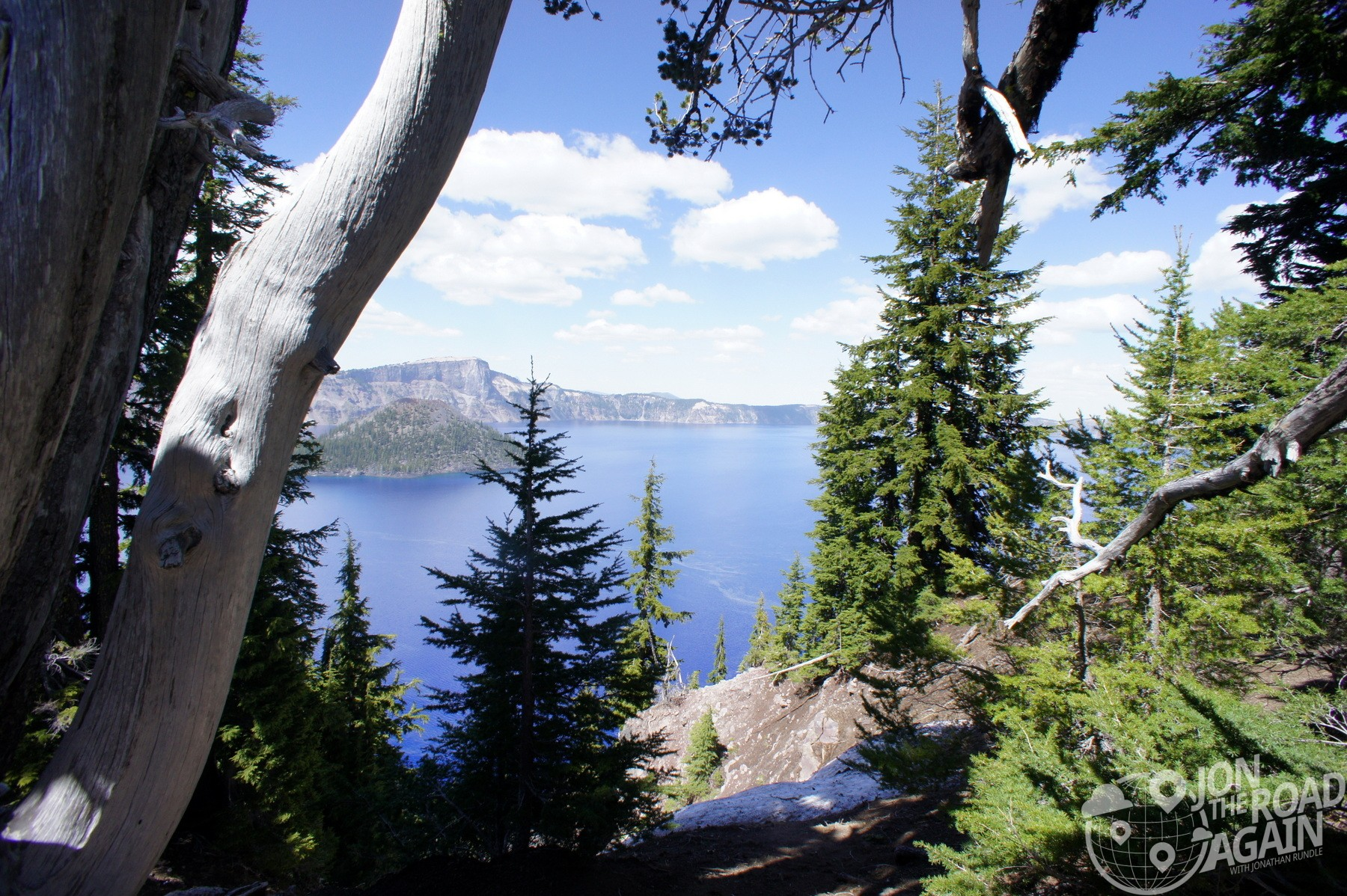 A peek at crater lake