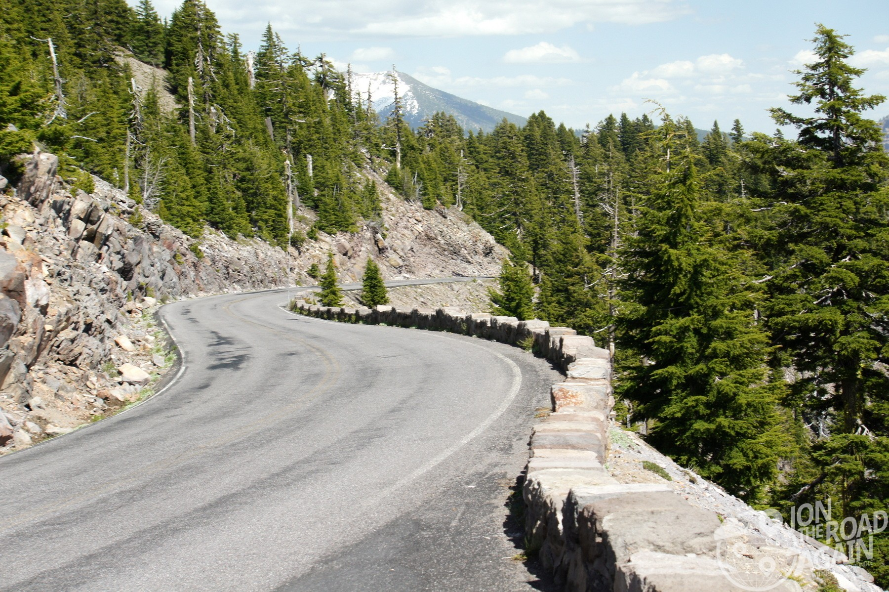 Crater Lake Rim Drive Road