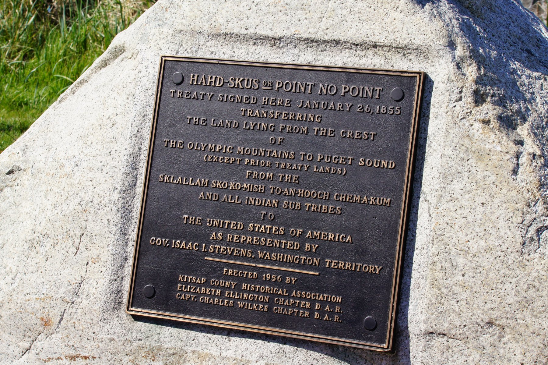 Point No Point Plaque