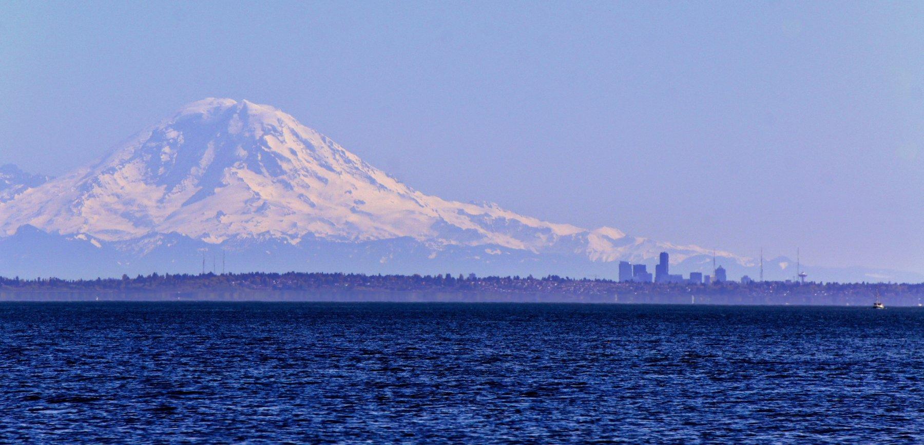 Seattle Skyline with Rainier