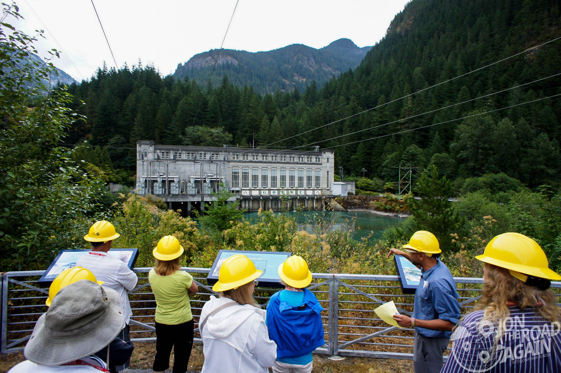 Tour Group at Gorge Powerhouse