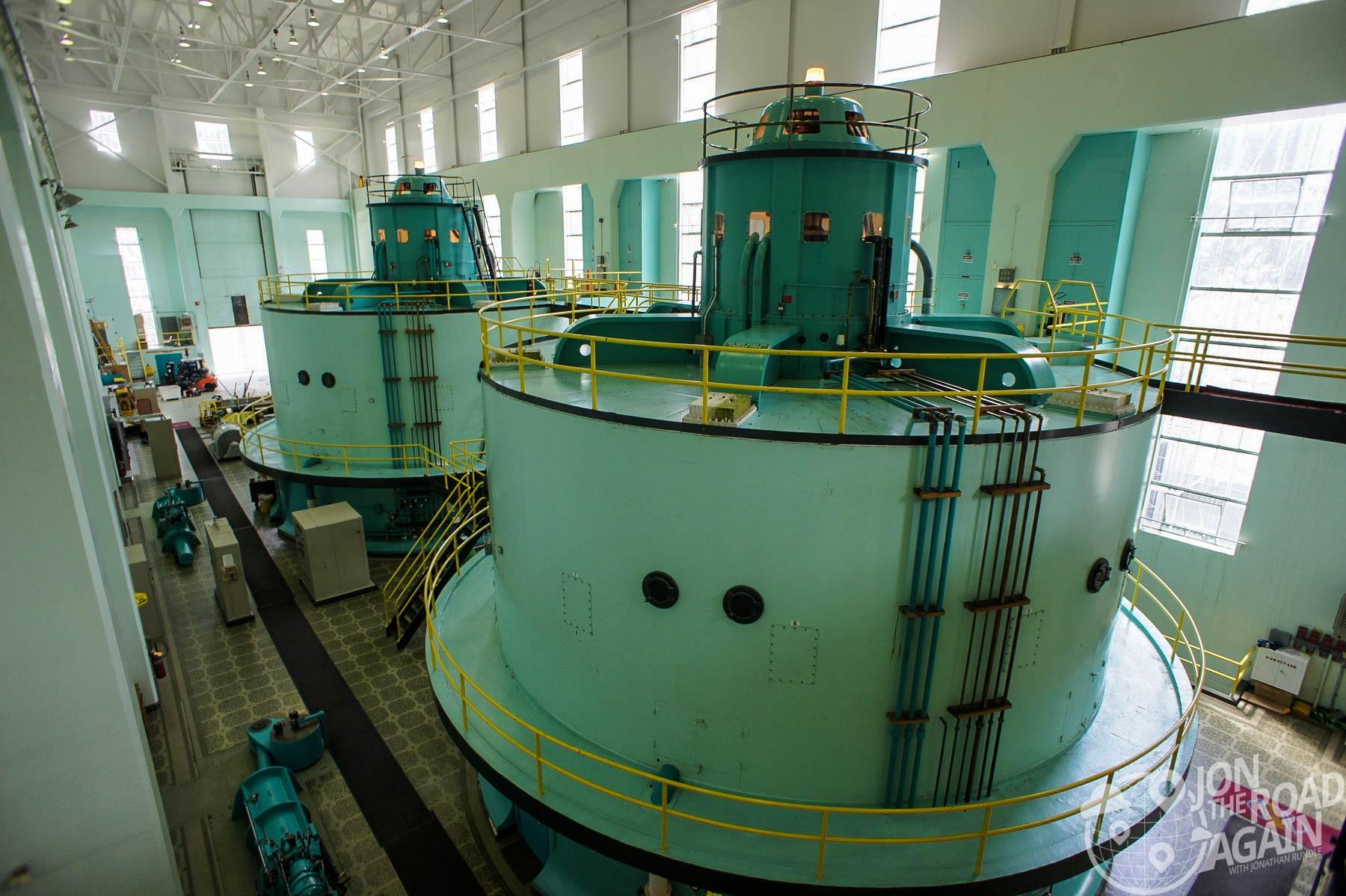 Diablo powerhouse turbines