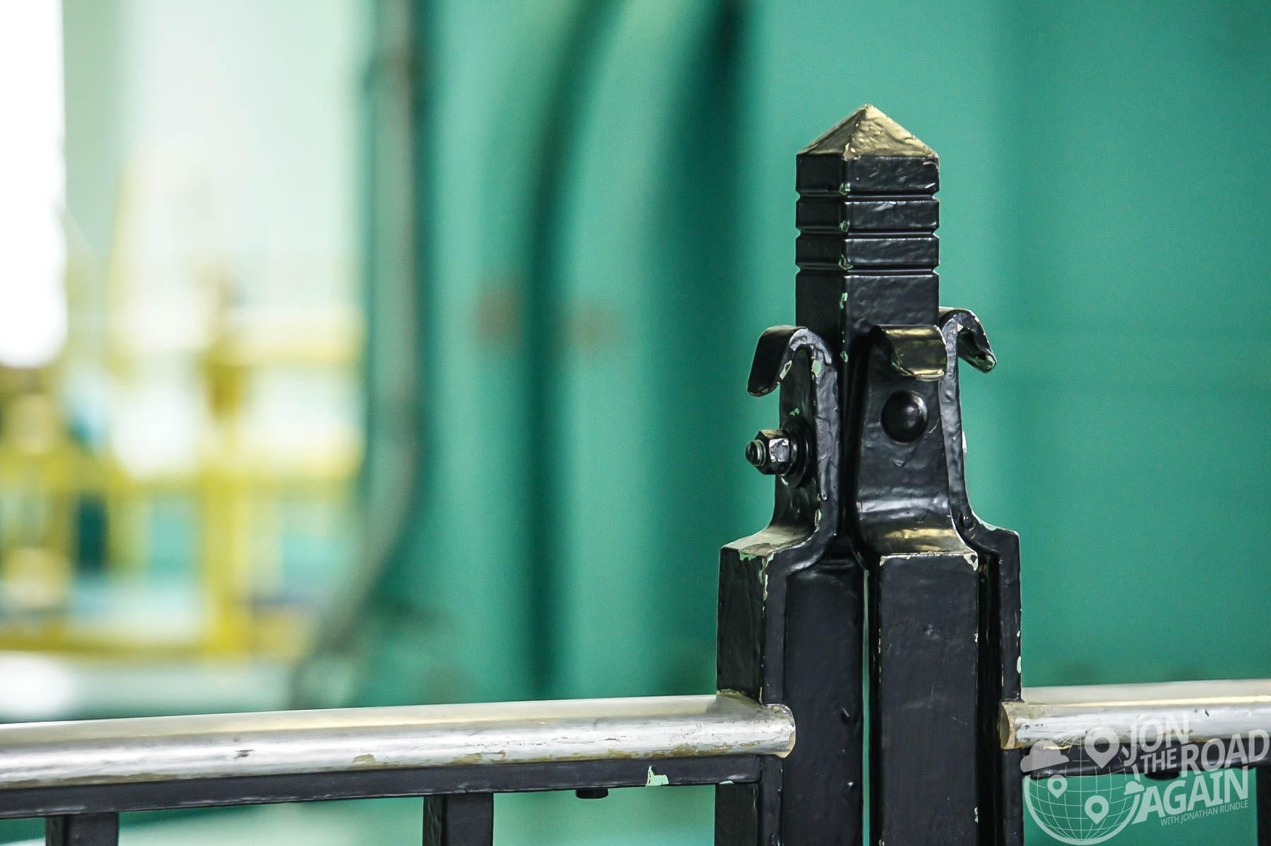 Finial on the powerhouse railing