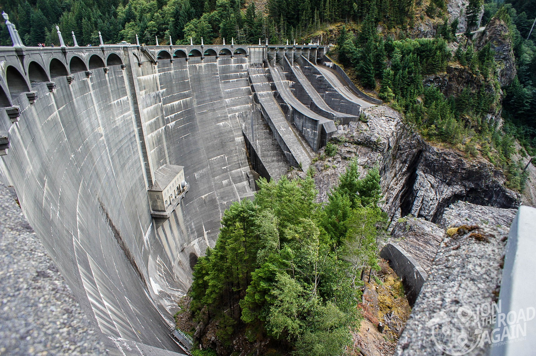 Over the edge at diablo dam