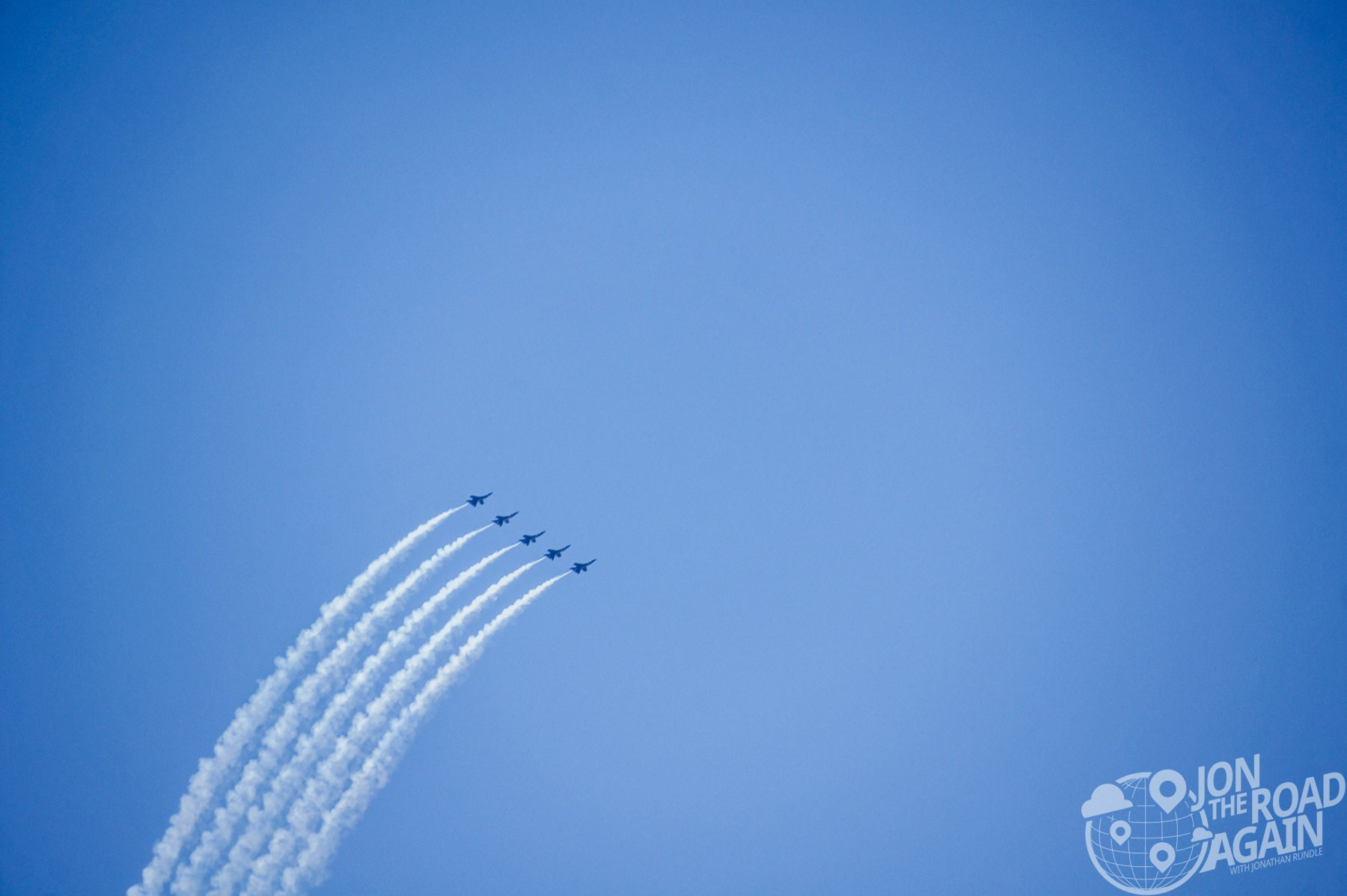 Blue Angels and Smoke Trails