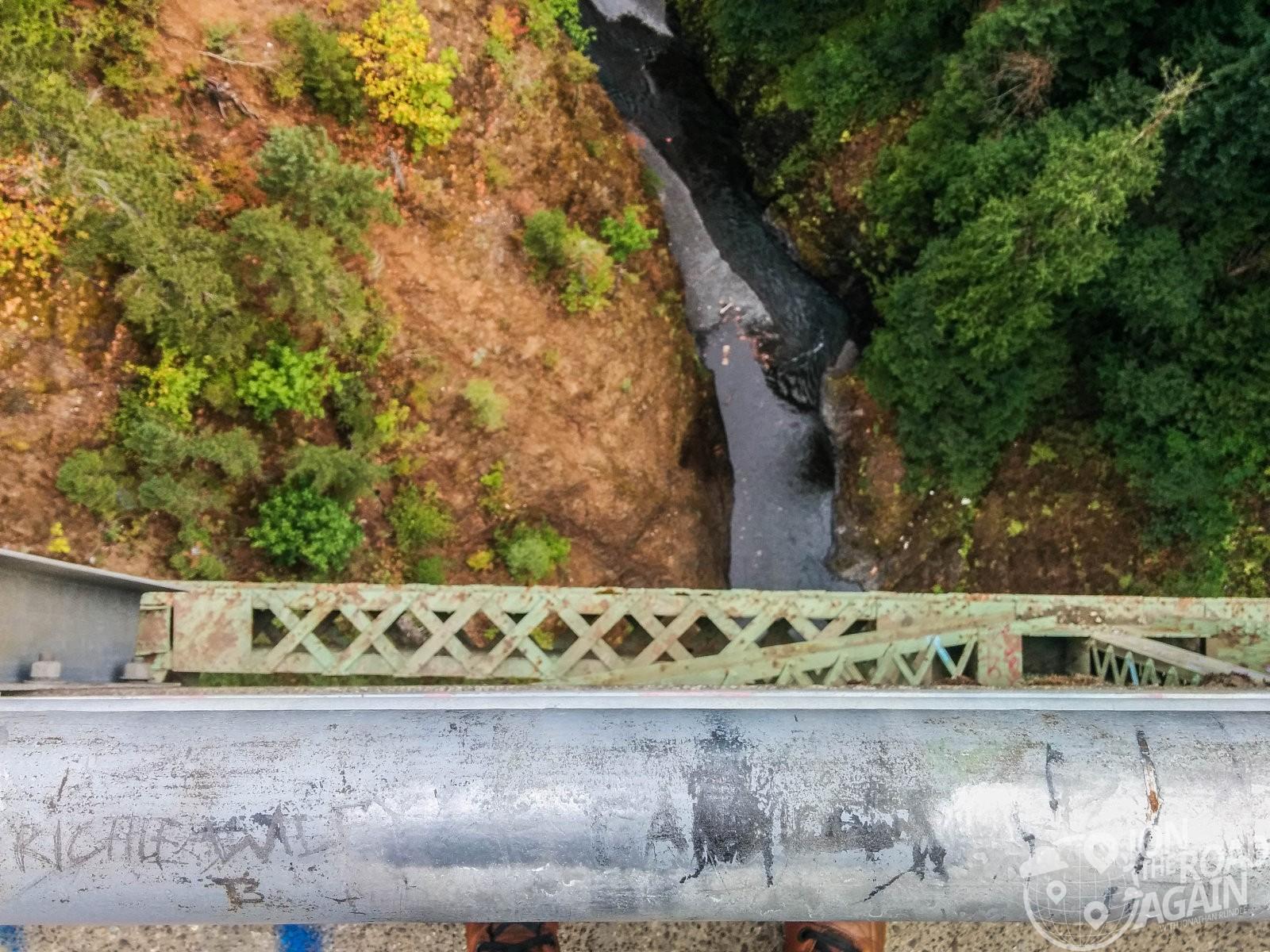 Looking down from High Steel Bridge