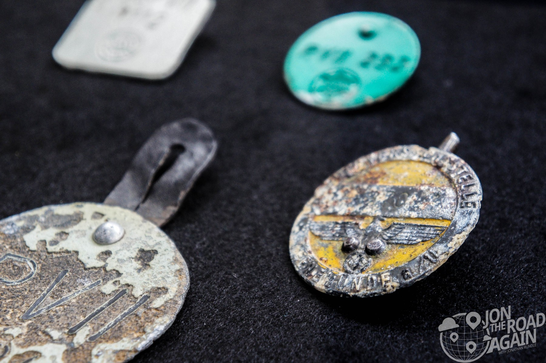 Nazi badges from V-2 Facility