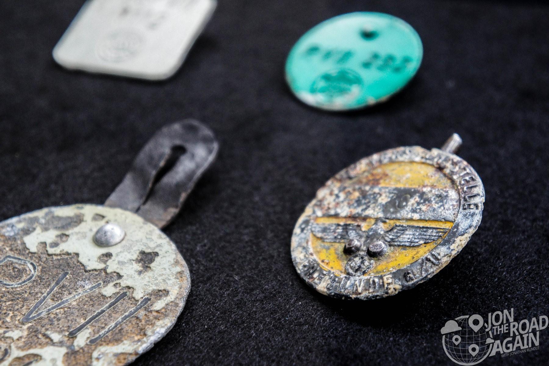 Nazi badges from V-2 Facility