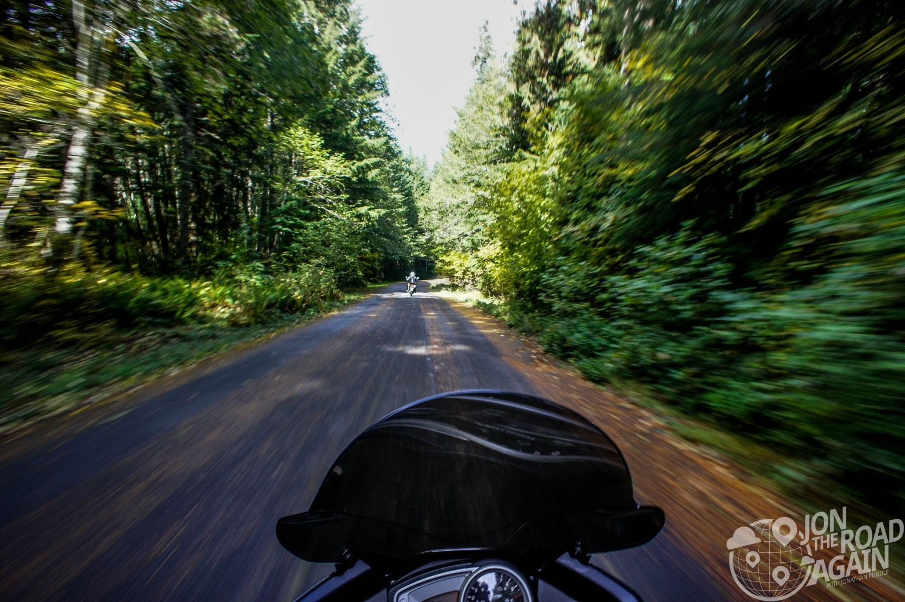 Riding motorcycles near Mt. St. Helens