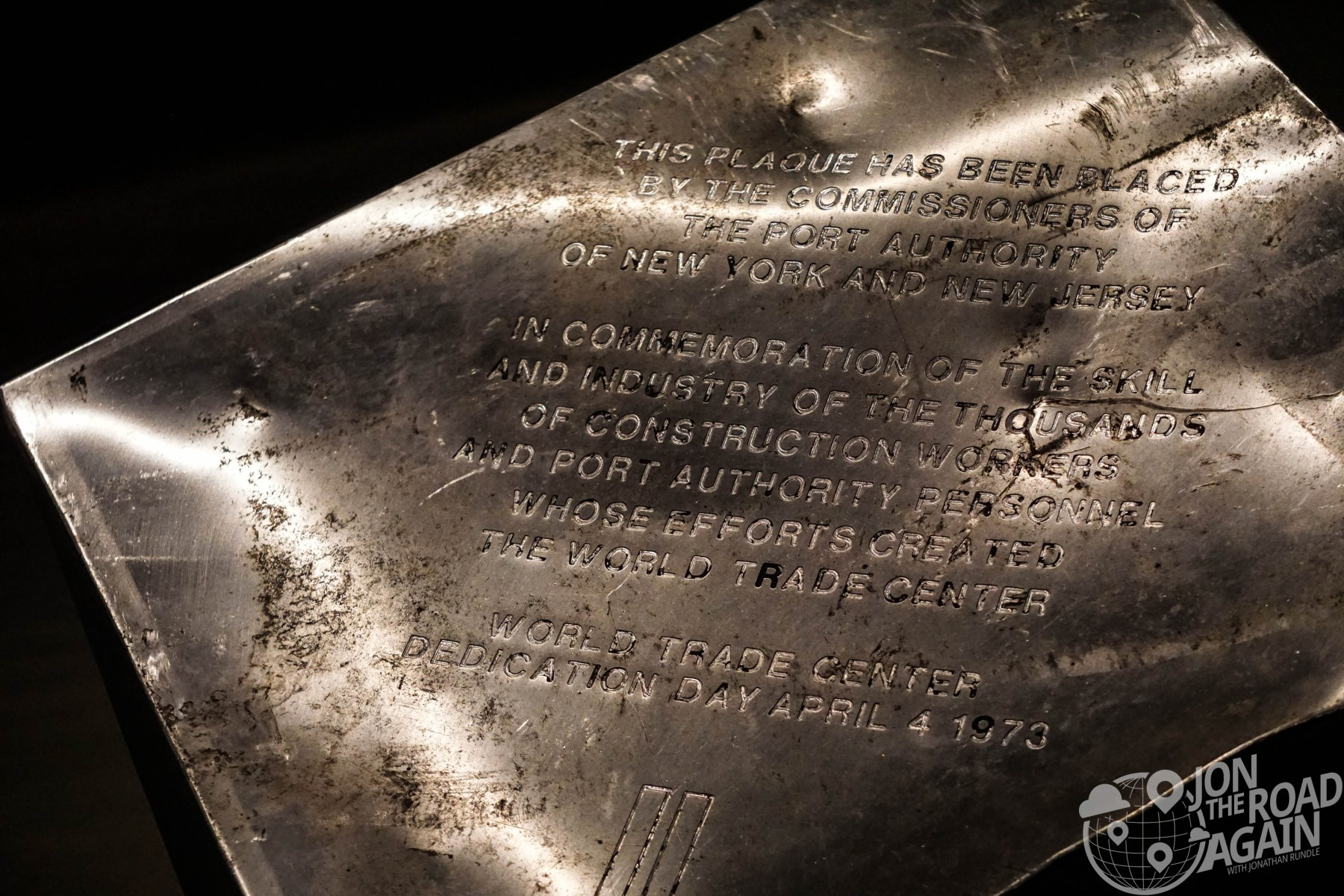 World Trade Center Plaque