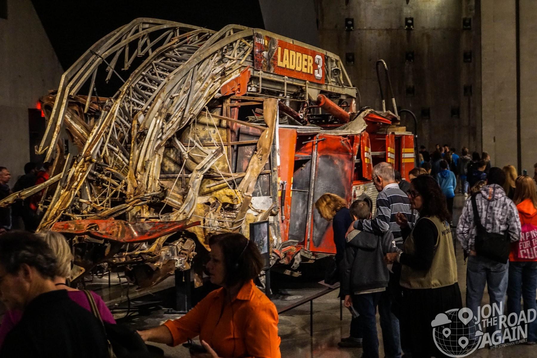 September 11th wrecked fire truck