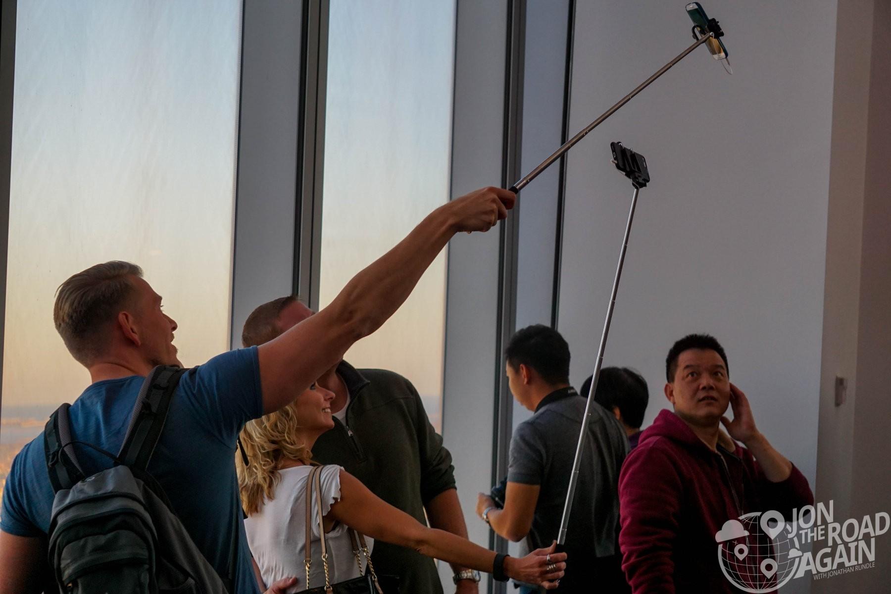Selfie Sticks at One World Observatory