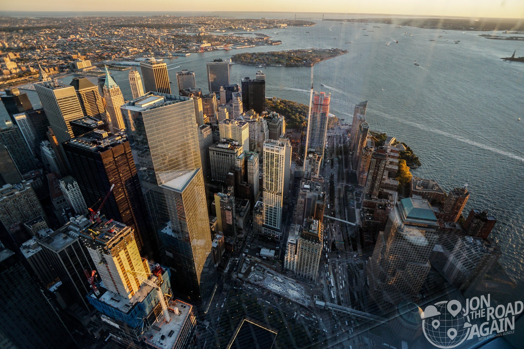 Lower Manhattan from One World Observatory