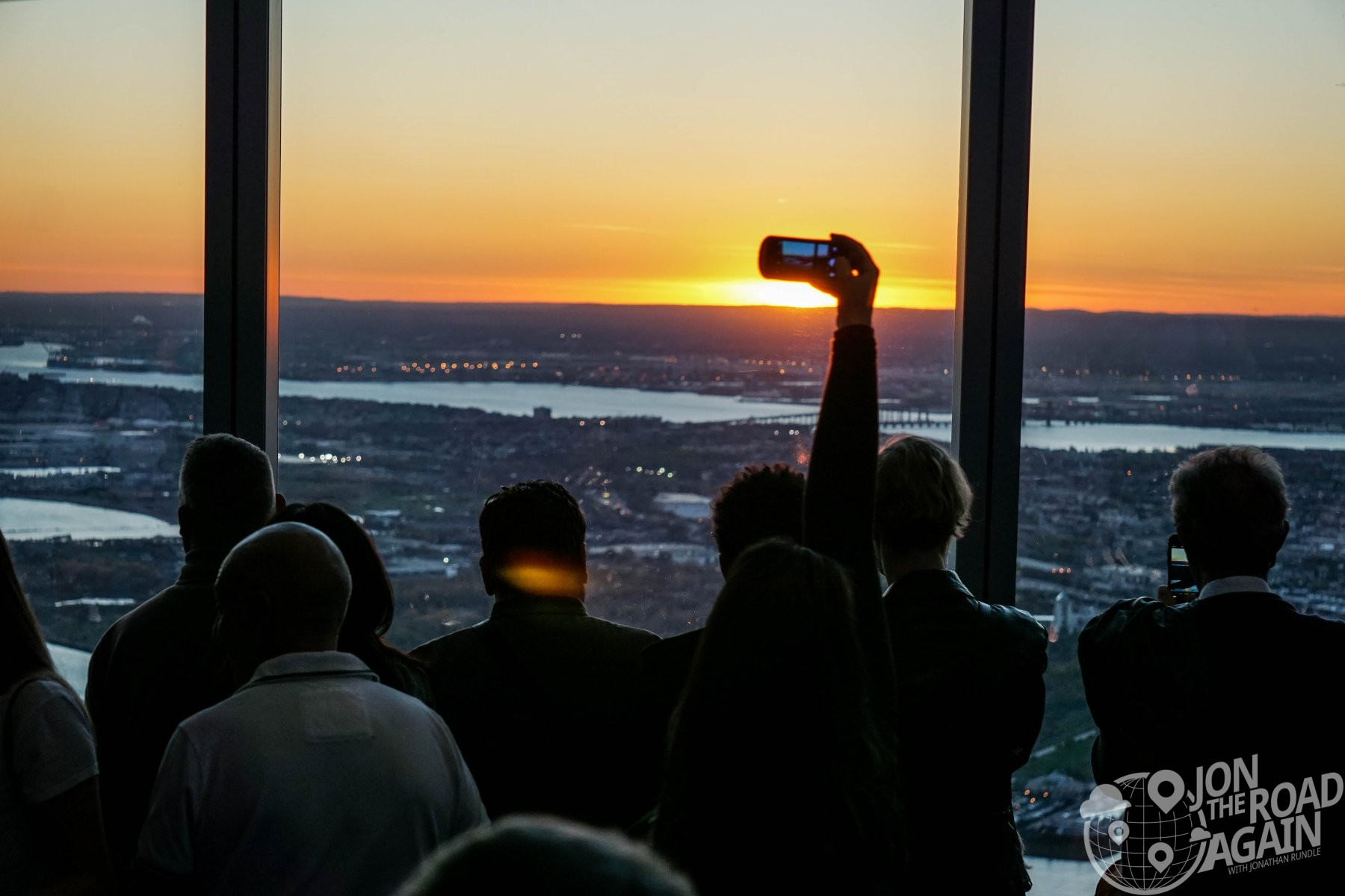 Sunset at One World Observatory