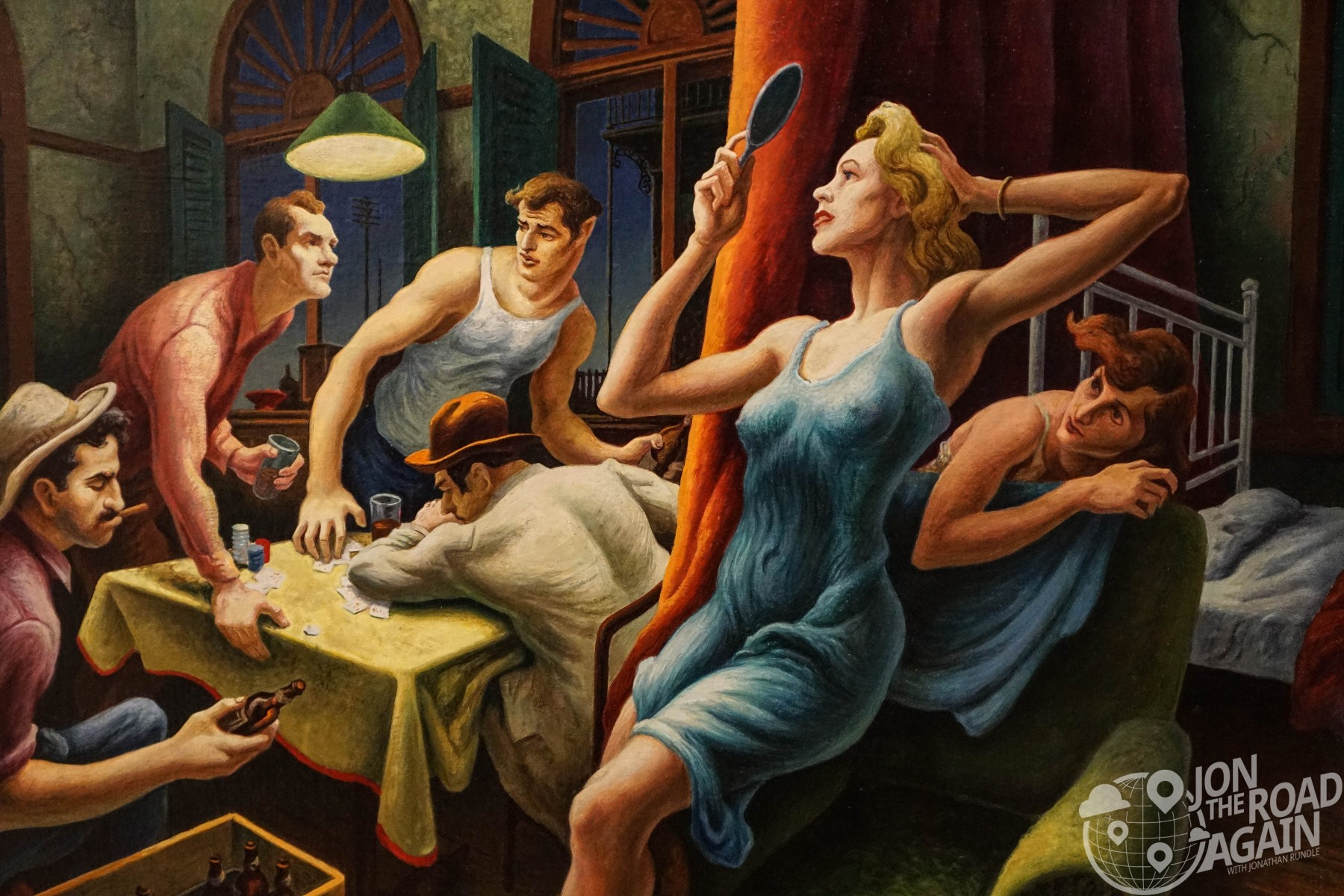 Thomas Hart Benton - Poker night