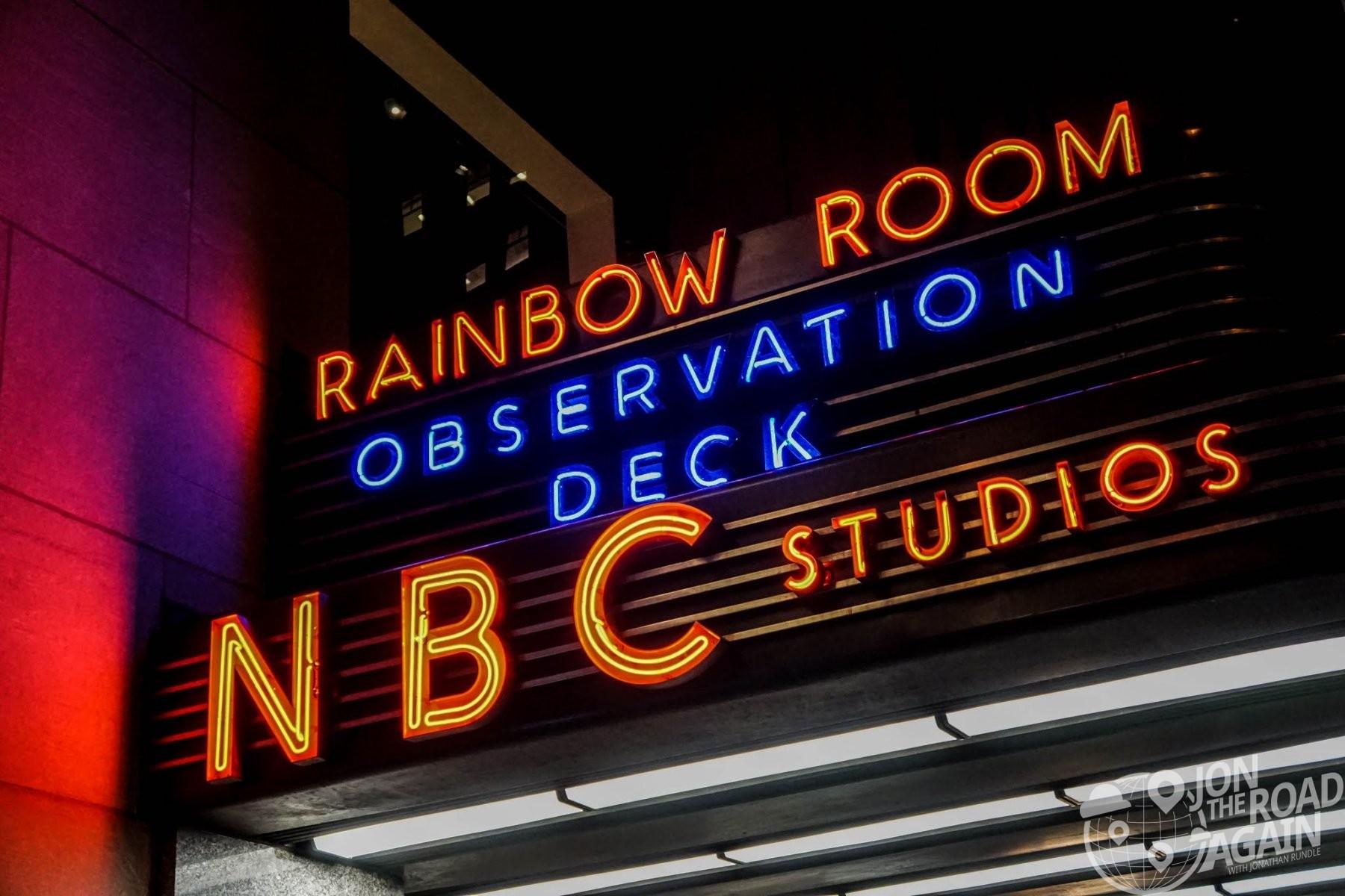 Rainbow Room Sign New York