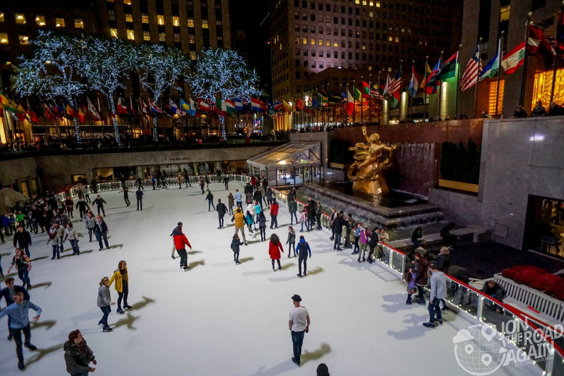 Ice Skating Rink and Rockefeller Center
