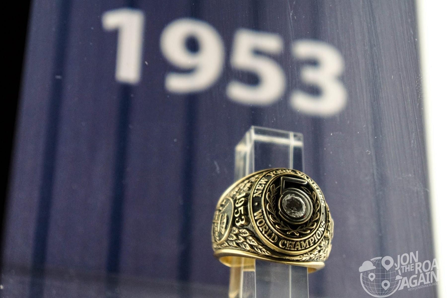 Yankees 1953 Championship Ring