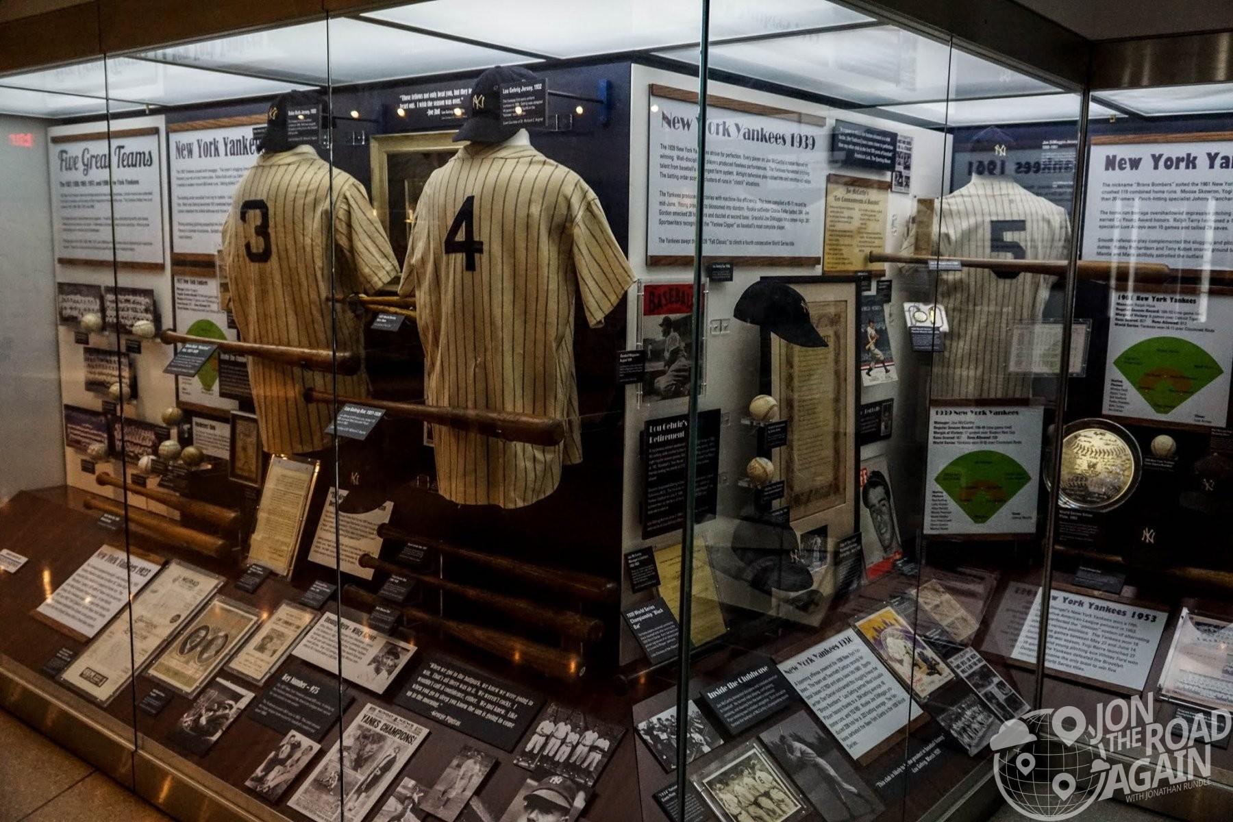 Display Cases at Yankee Stadium