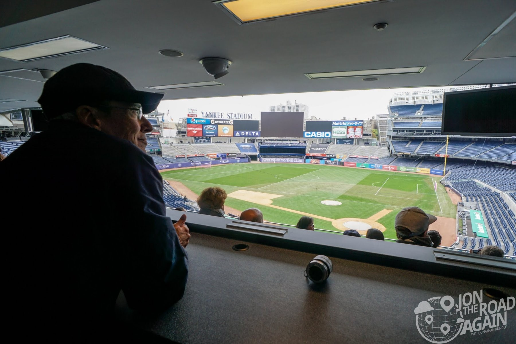 View from the Press Box at Yankee Stadium