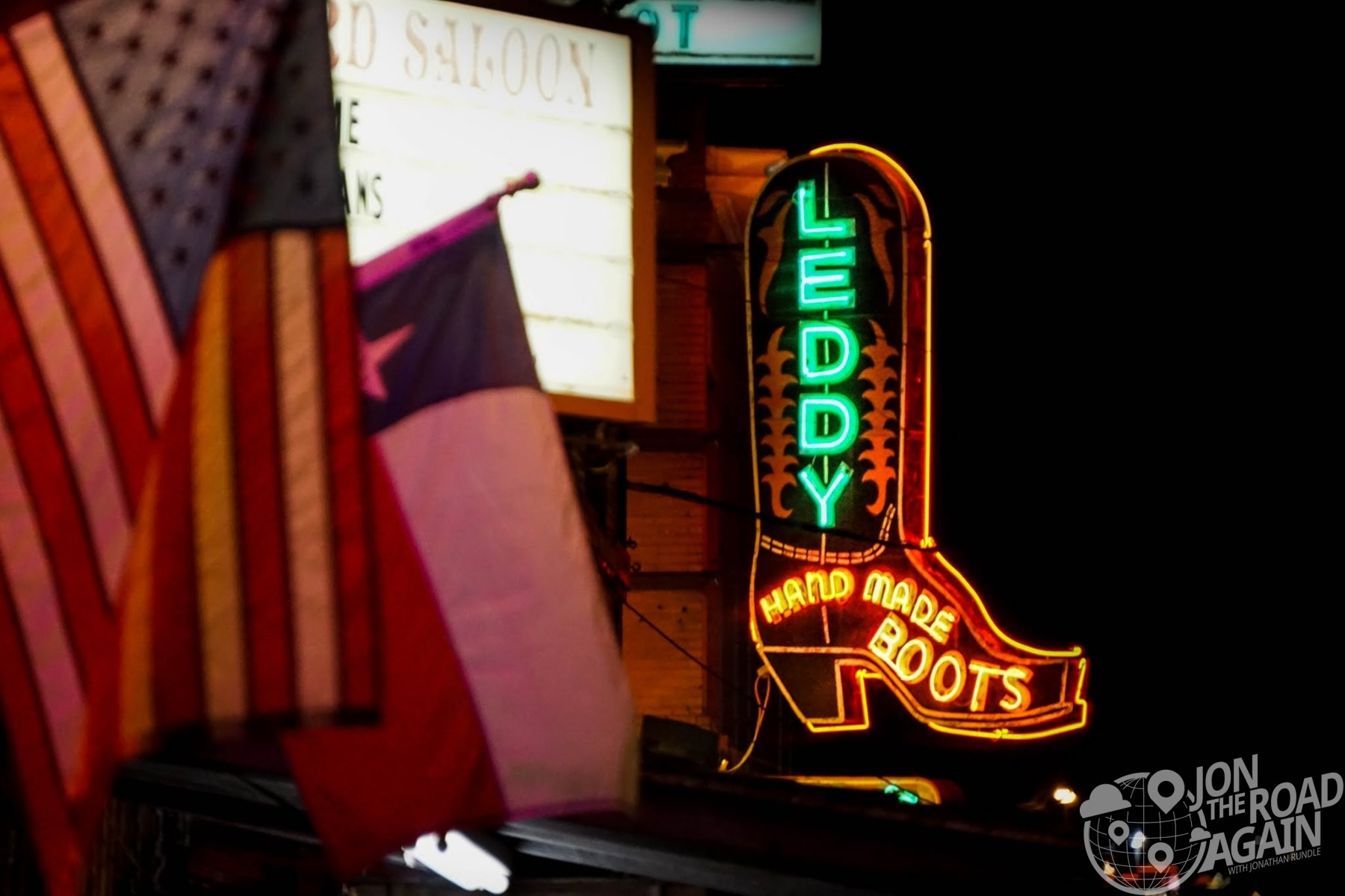Neon sign in Fort Worth