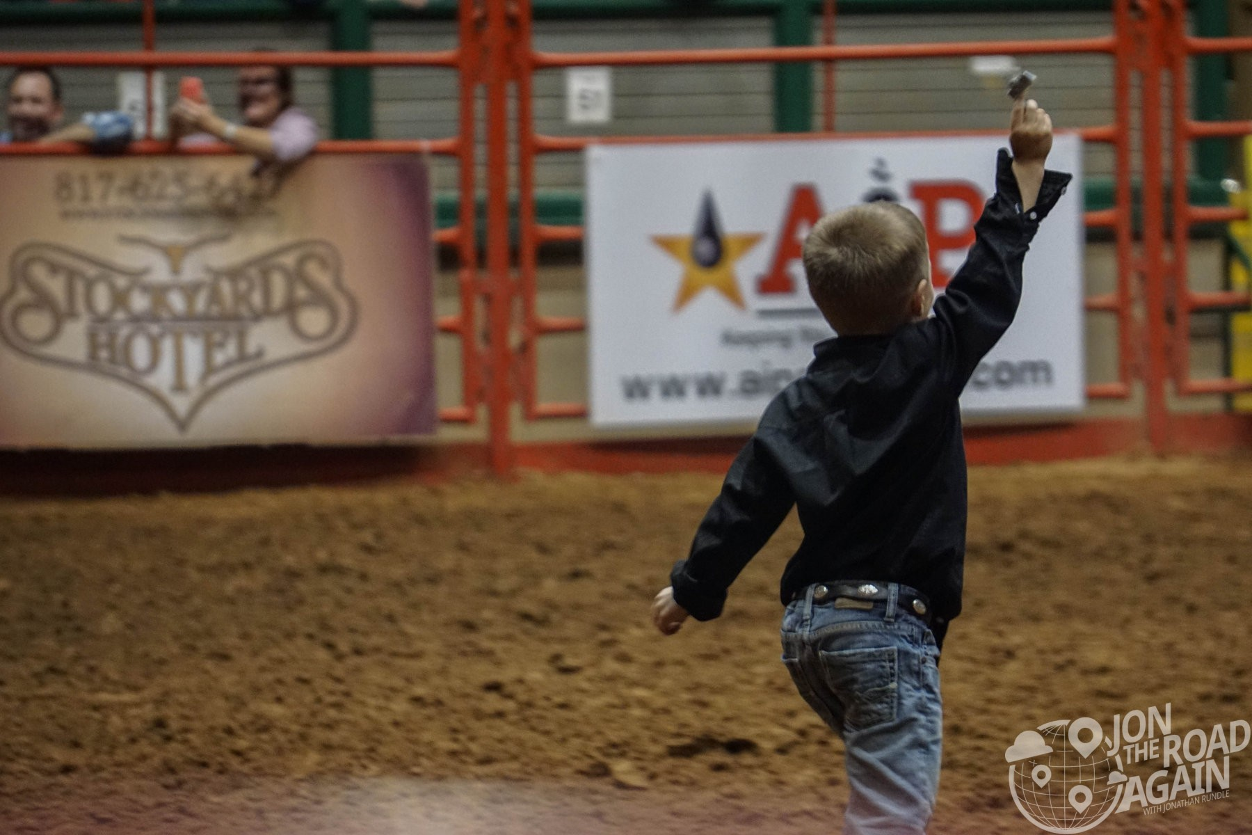 Winning kid at the rodeo