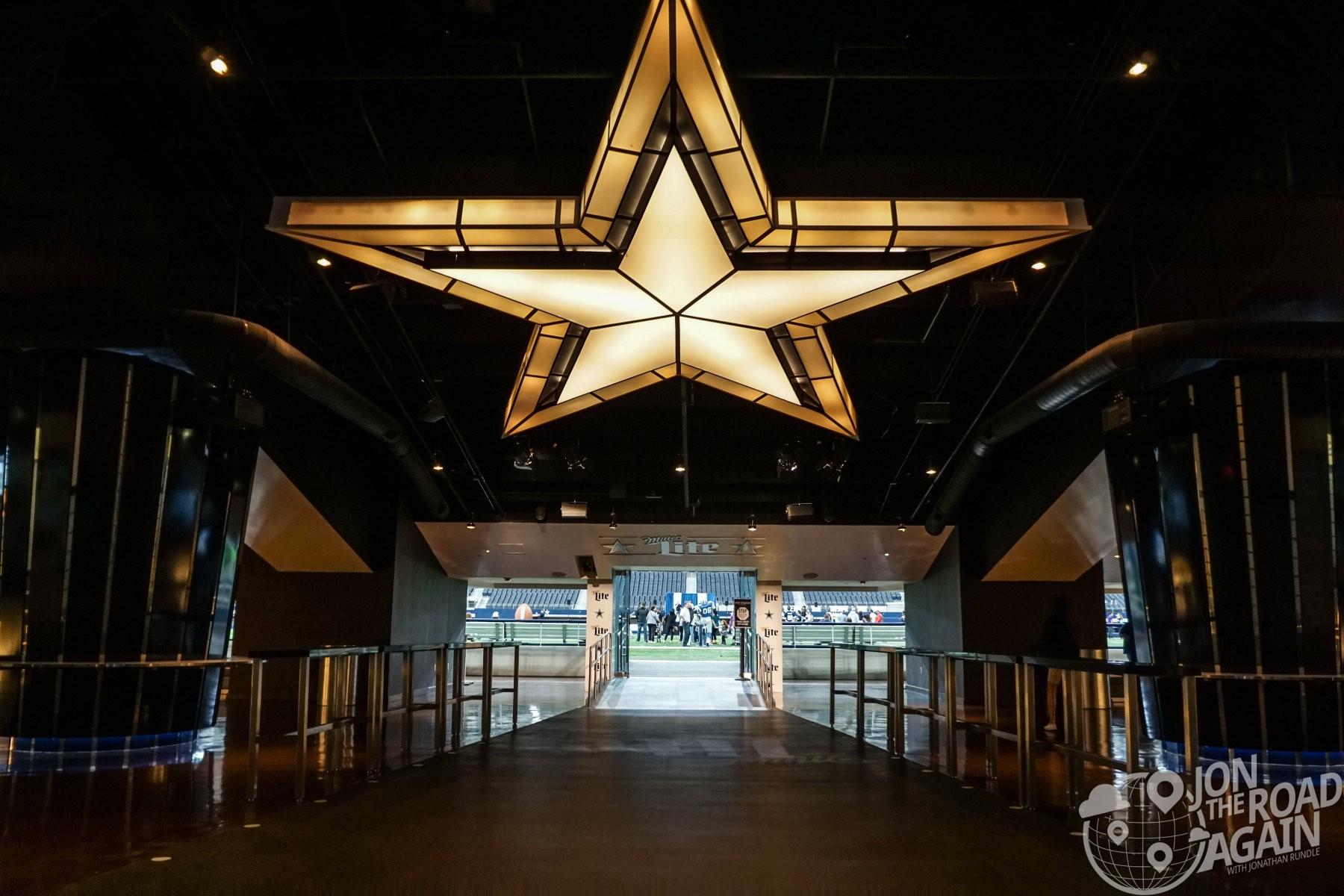 Cowboys Stadium taking the field from the locker room