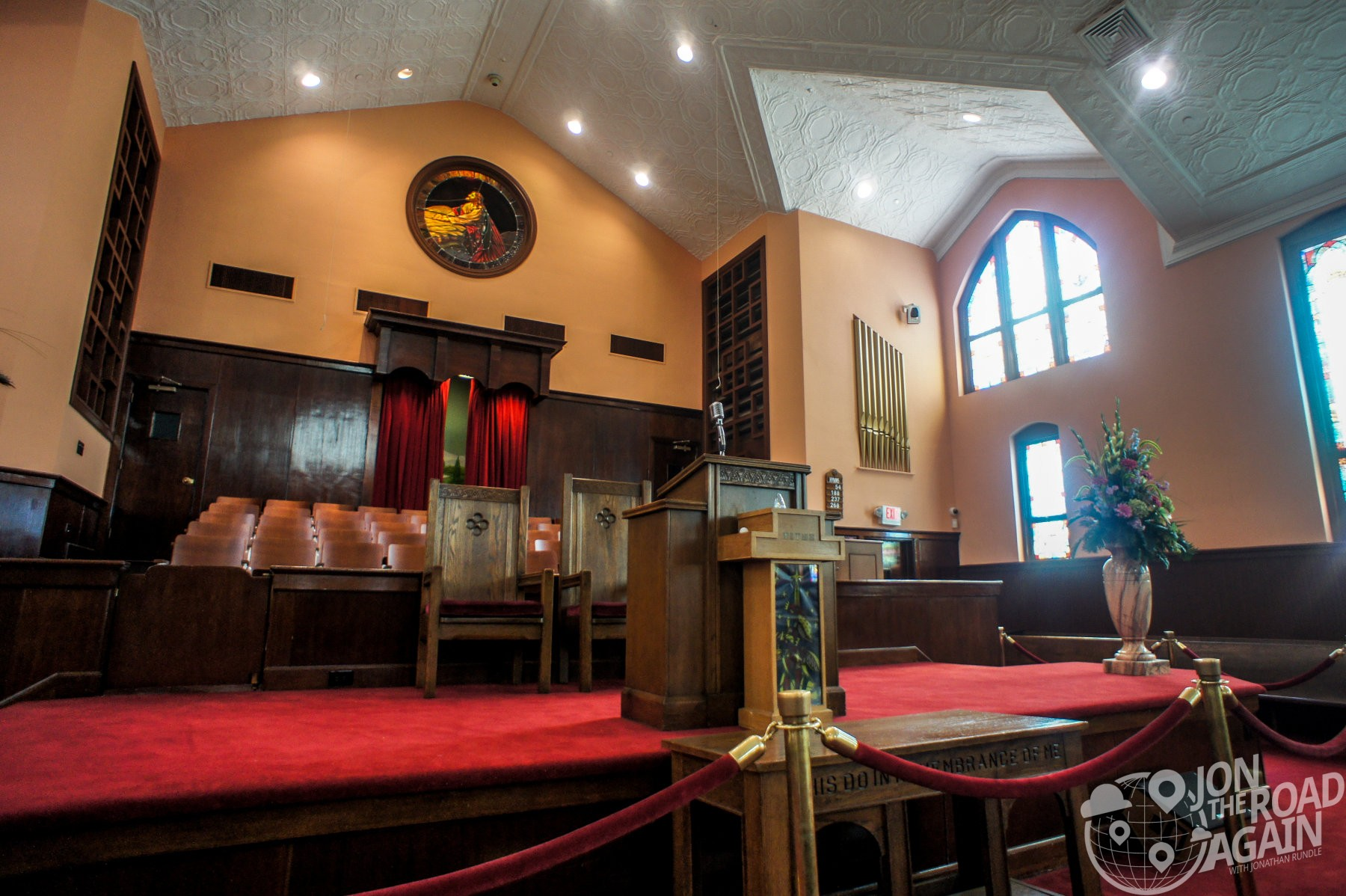 Inside Ebenezer Baptists Church