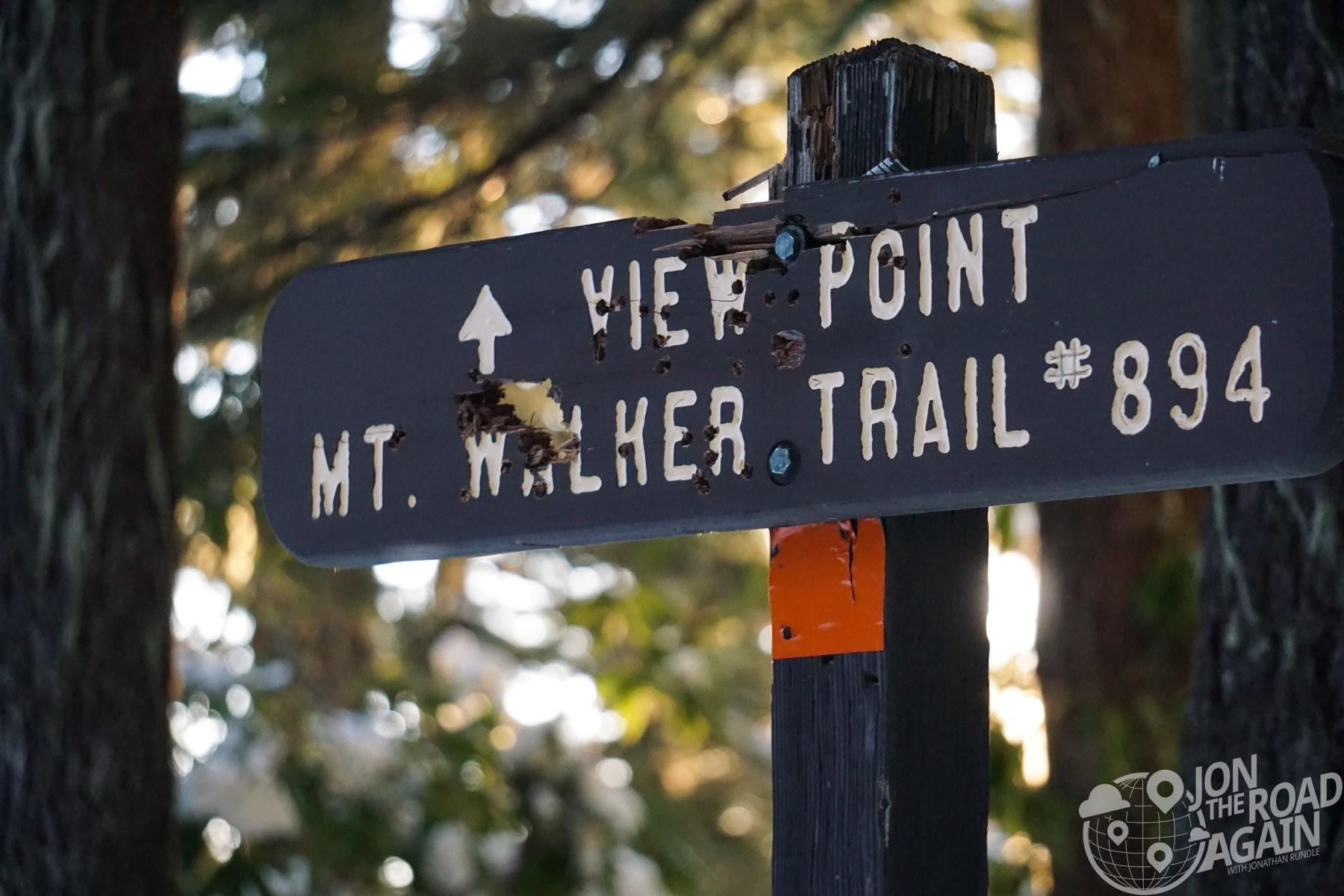 Hiking Mt. Walker in January