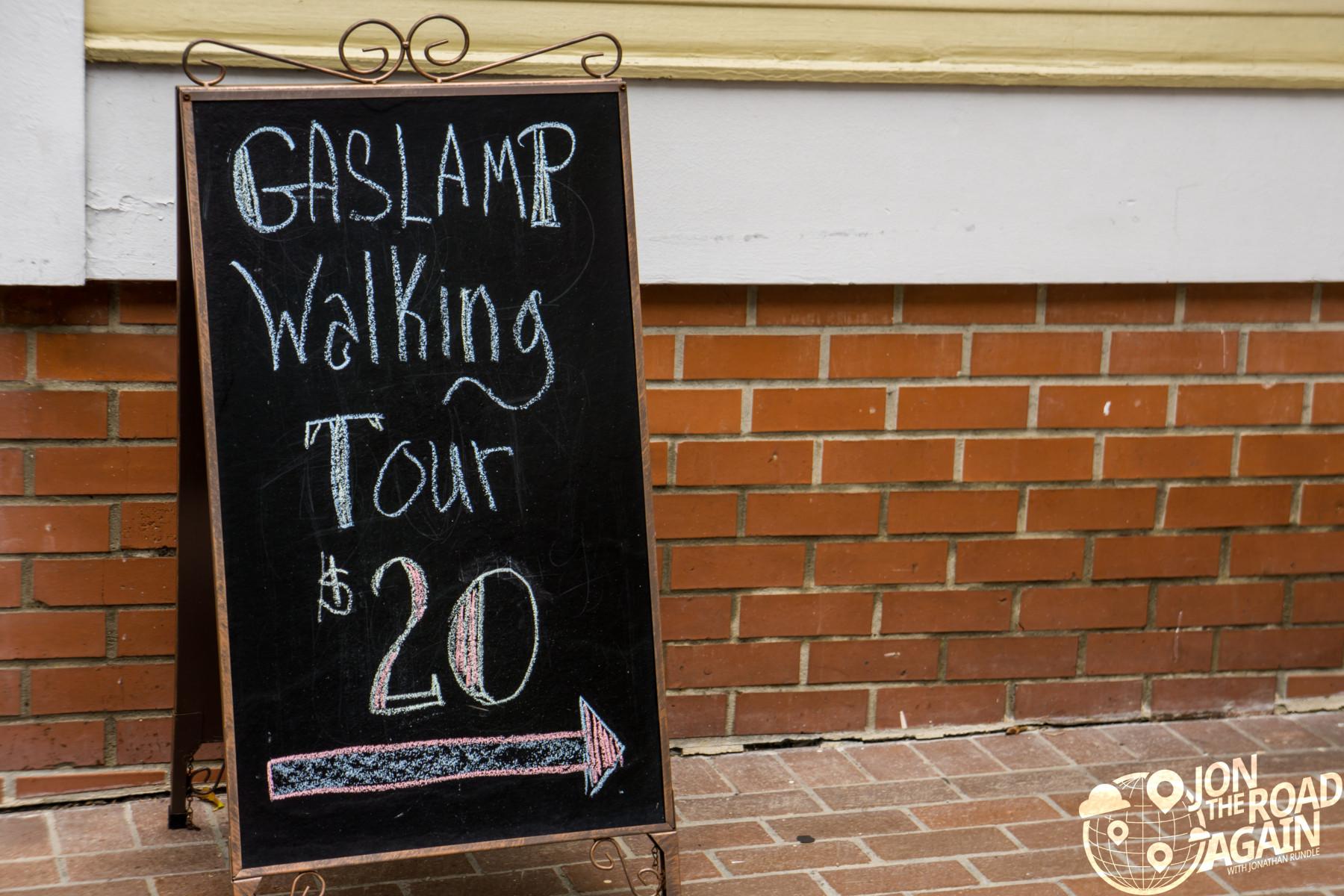 San Diego Walking Tour Sign