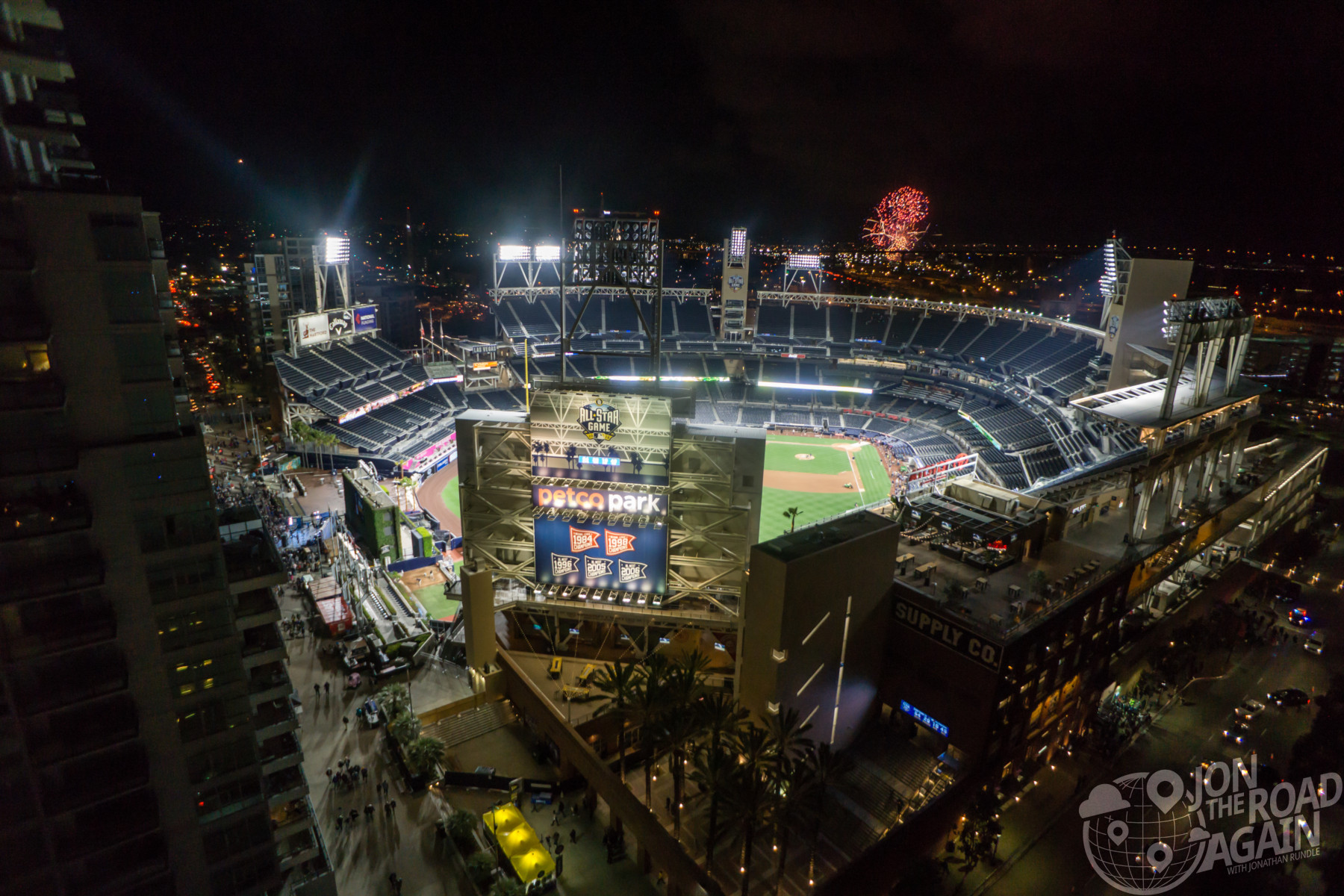 Petco Park at night