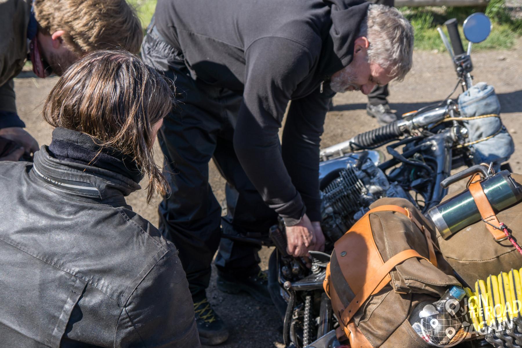 Roadside motorcycle fix