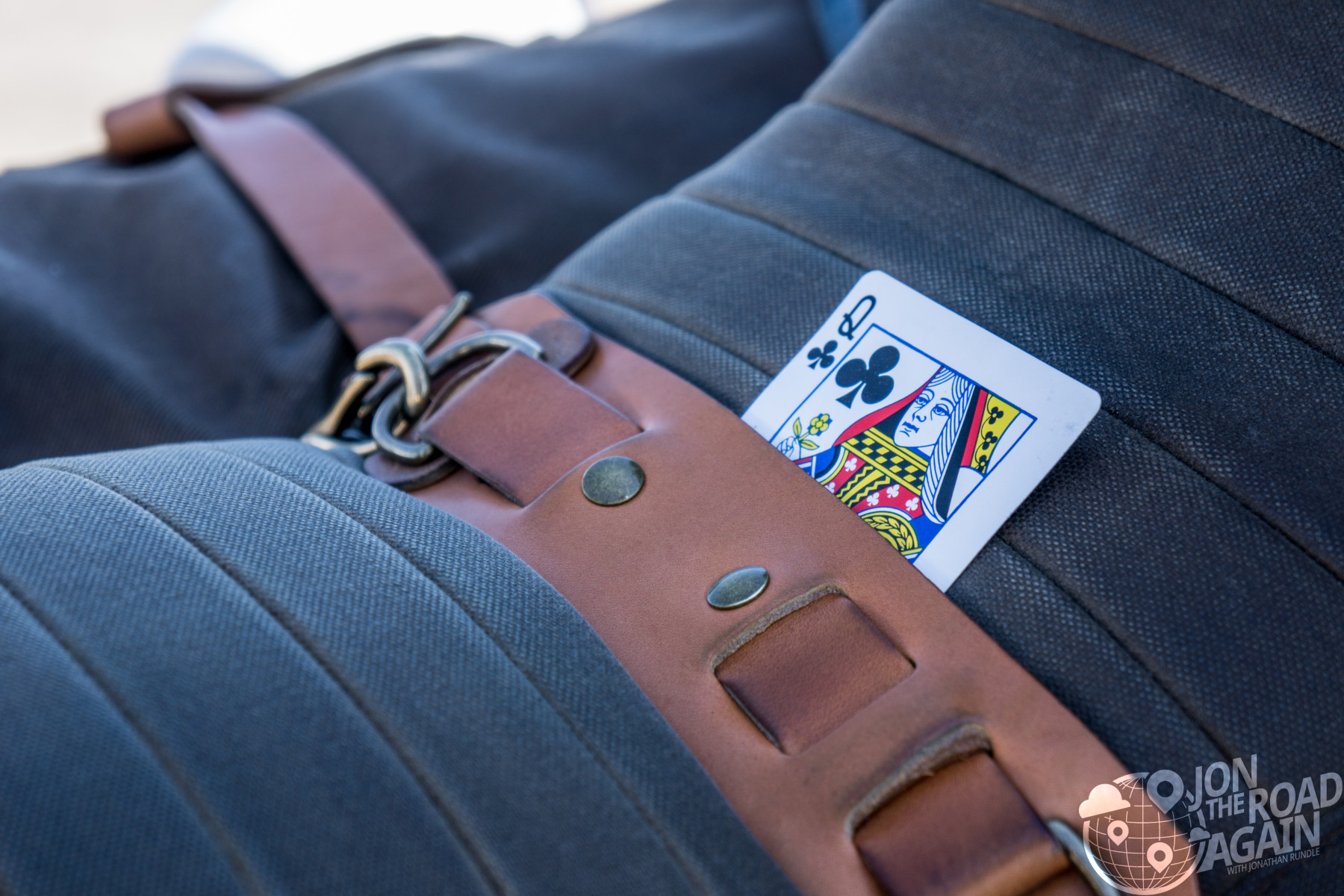 Queen card in motorcycle seat