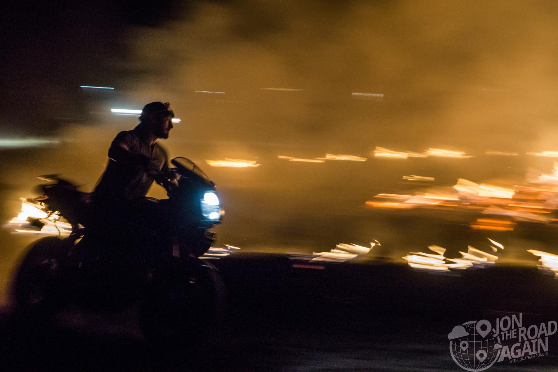Motos in Moab motorcycle bonfire