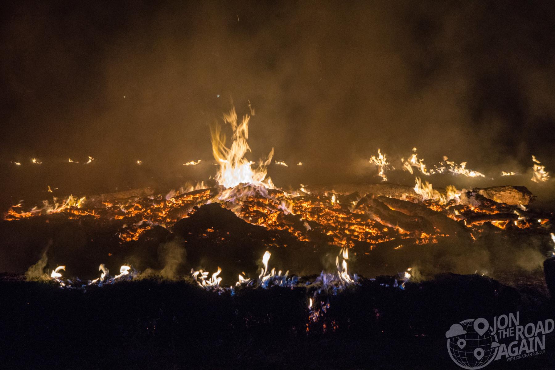 Motos in Moab bonfire