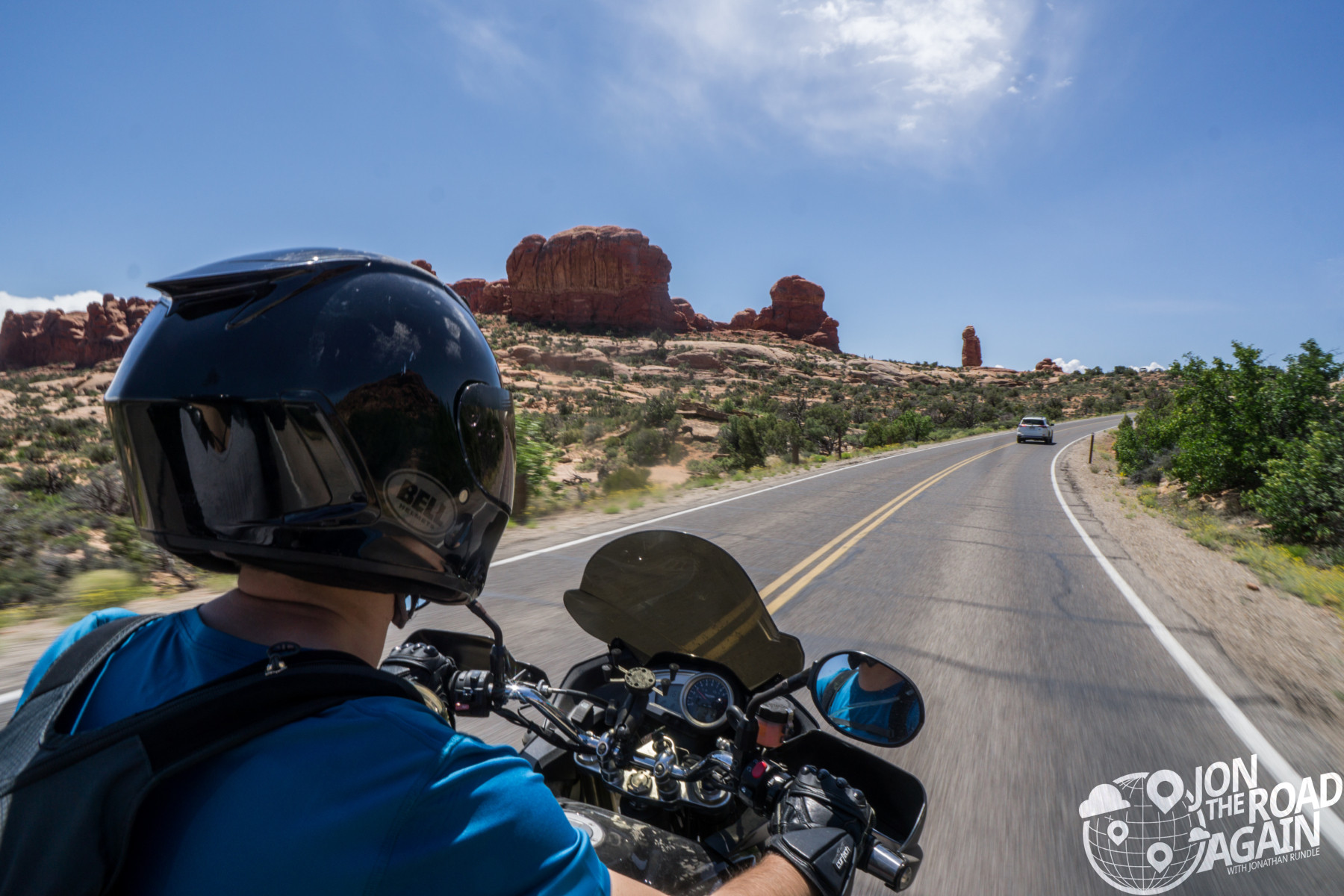 Motorcycle in Arches National Park