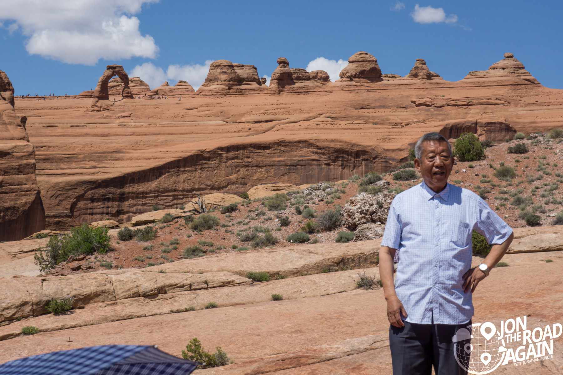 Chinese man at Delicate arch