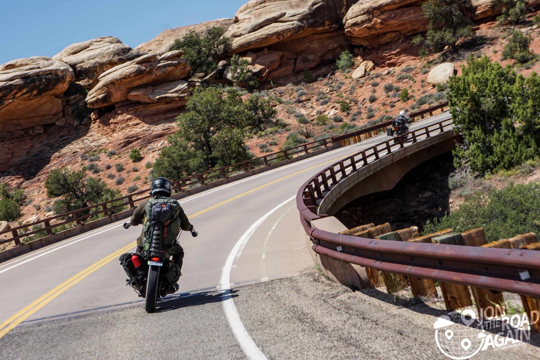 Riding through canyonlands