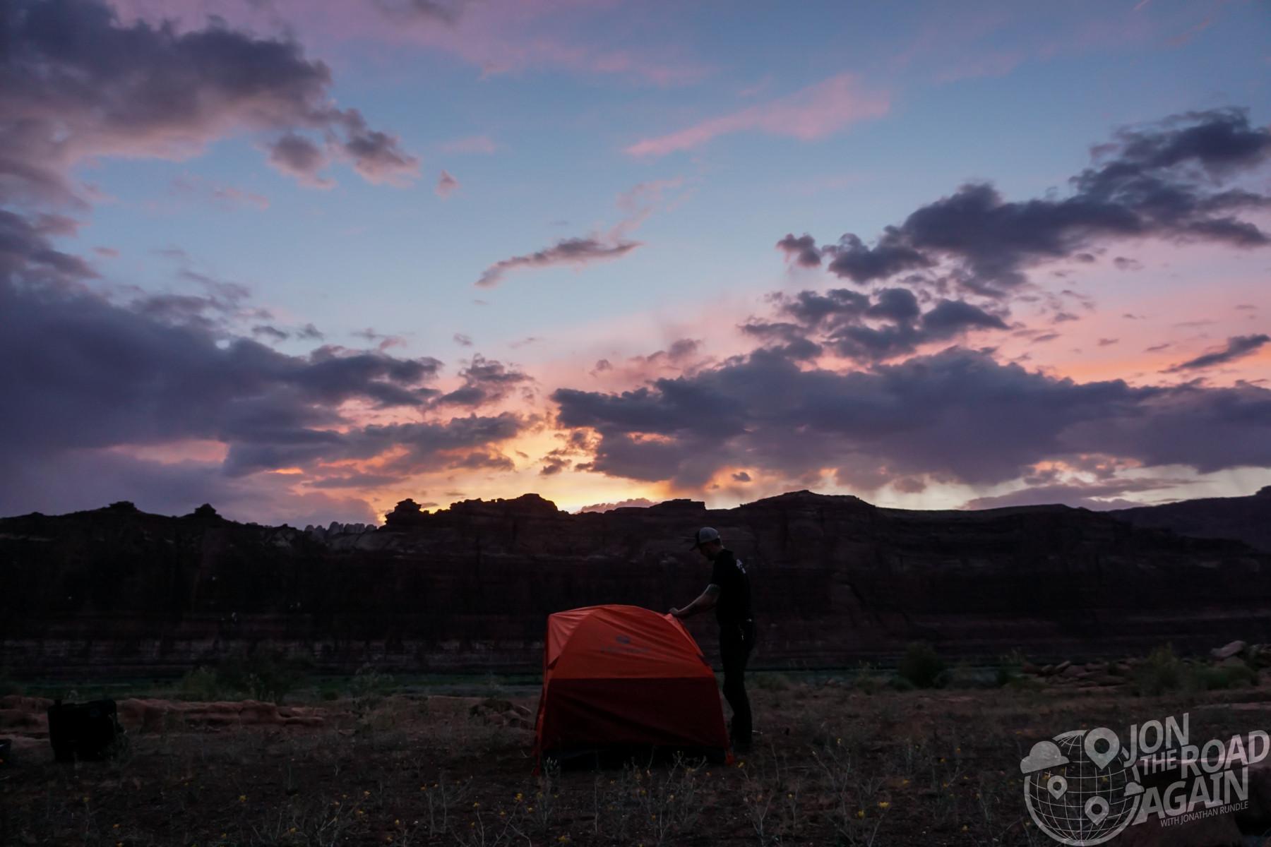 Camping at Lake Powell